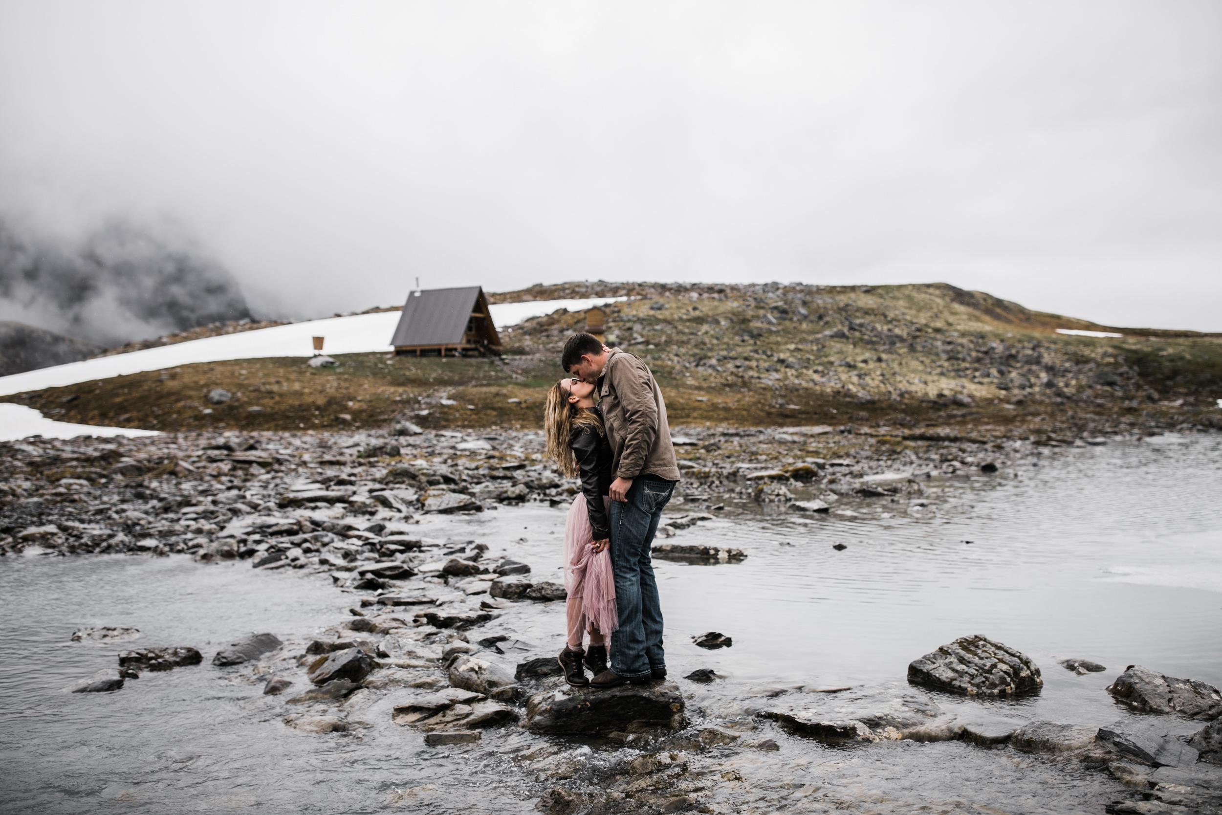 adventure engagement session in alaska | alyeska, girdwood elopement photographer | alaska destination wedding photographer | the hearnes adventure photography