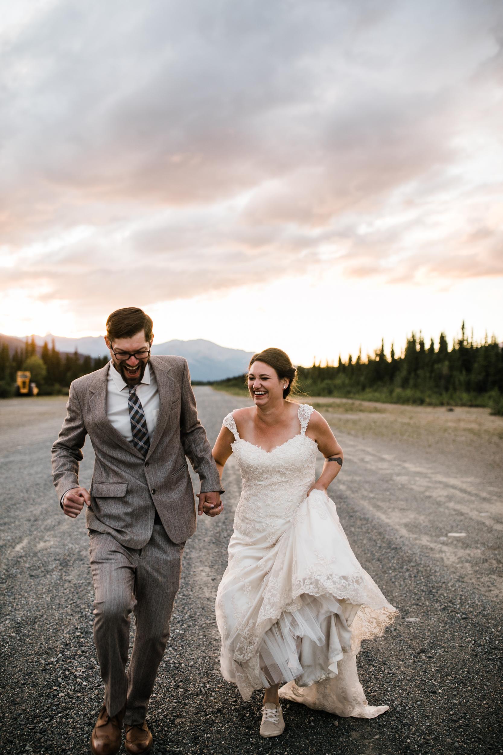 morgan + evan's intimate wedding on the denali airstrip | alaska destination wedding near Denali National Park and Preserve | the hearnes adventure photography