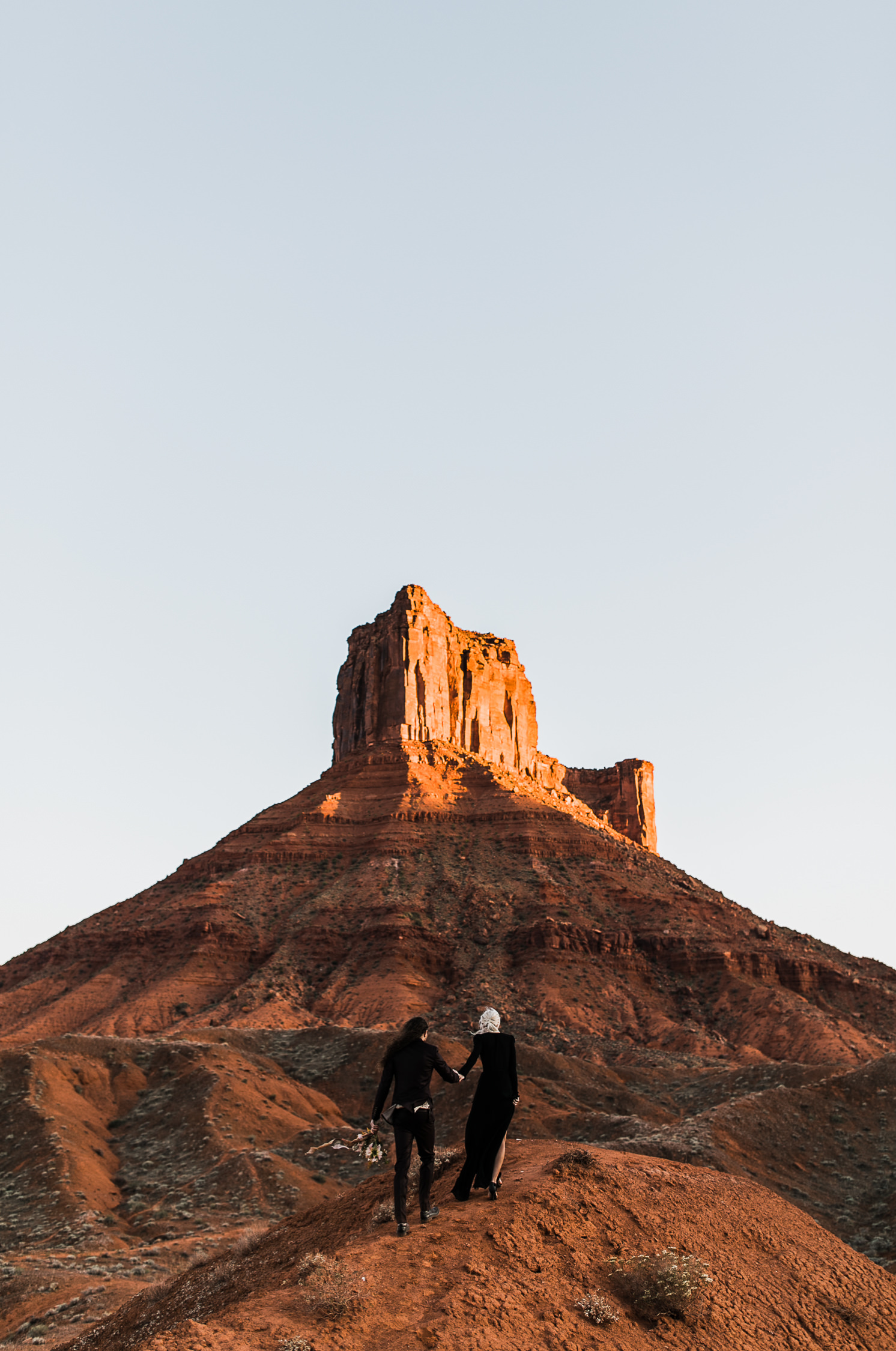 Black wedding dress inspiation for an elopement in Moab, Utah!