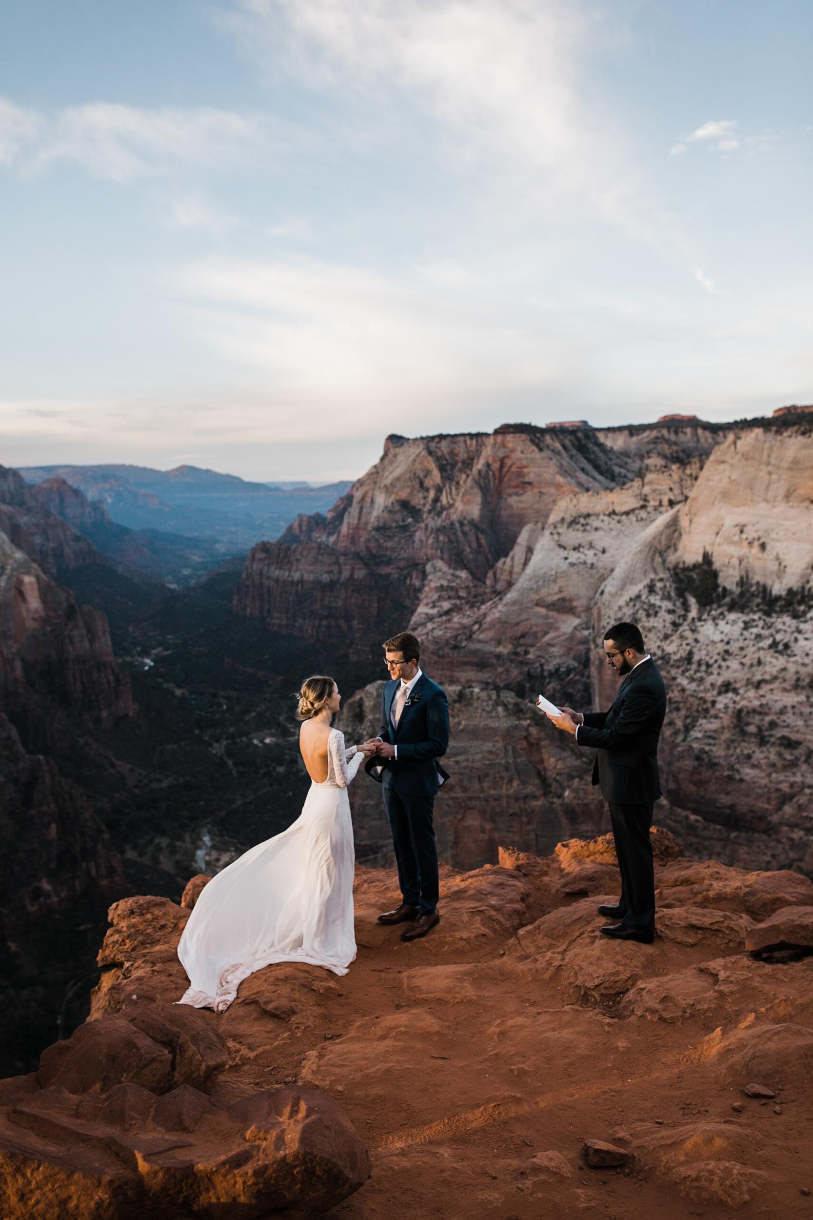 zion national park elopement inspiration | utah adventure wedding photographer