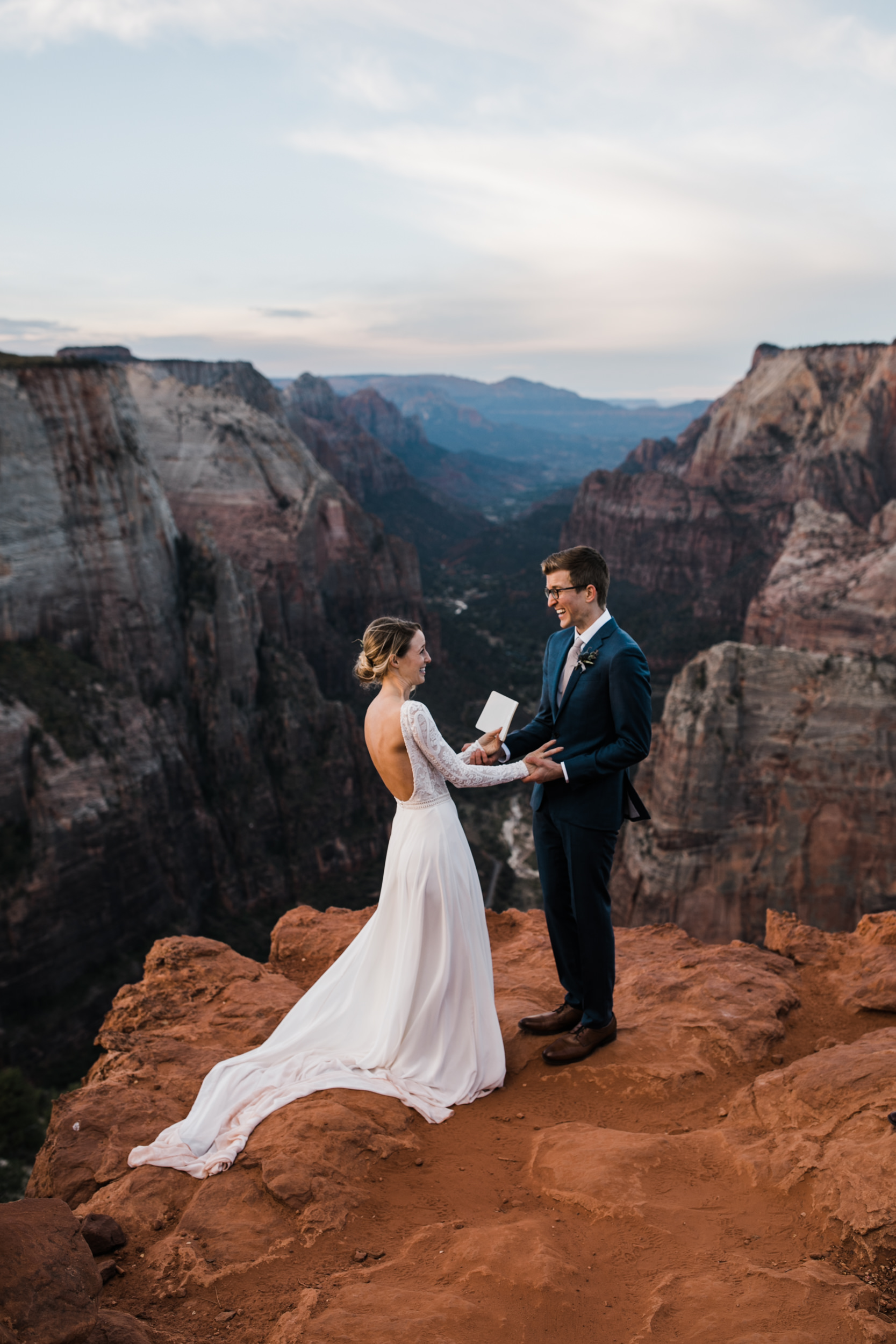 zion national park hiking elopement | utah adventure wedding