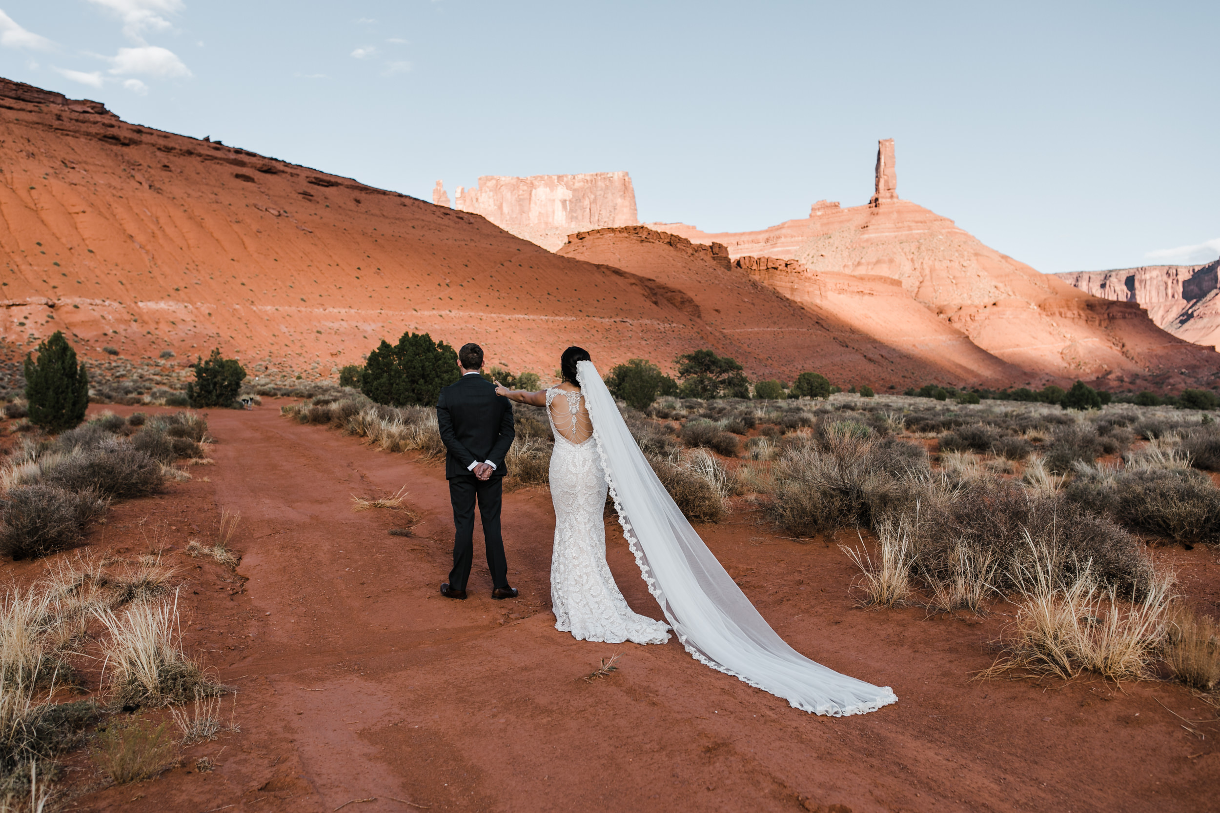 moab, utah wedding photo session | galia lahav bride | bridals in the desert | the hearnes adventure photography