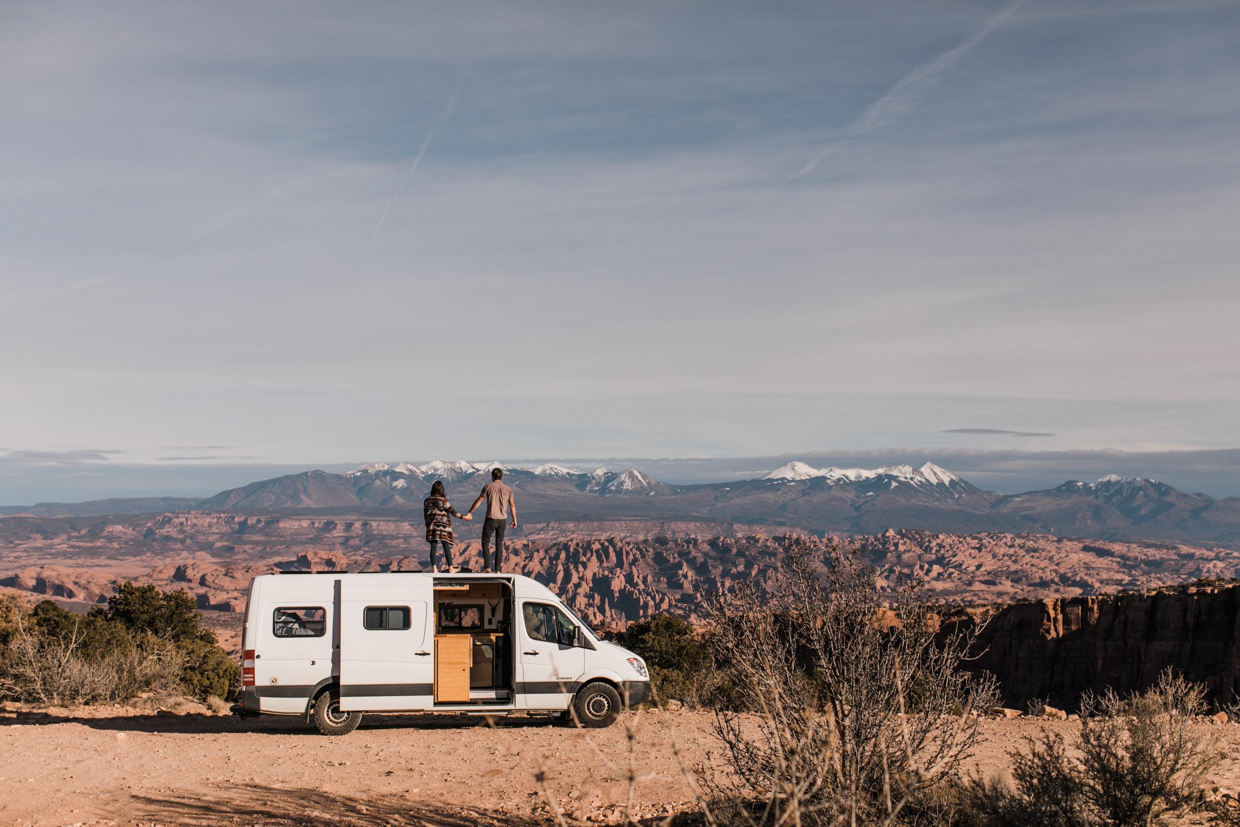 sprinter van in the desert