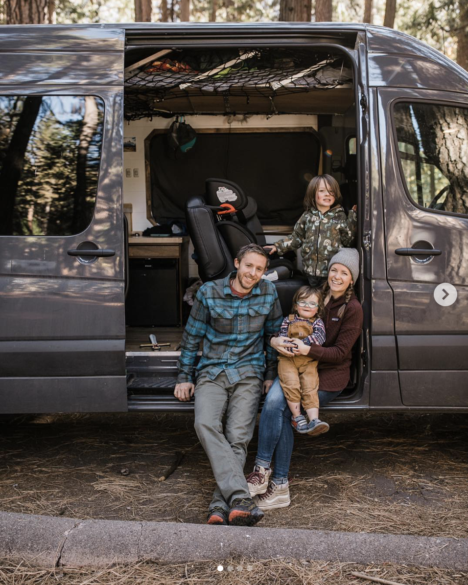 tommy caldwell and family van life in yosemite national park
