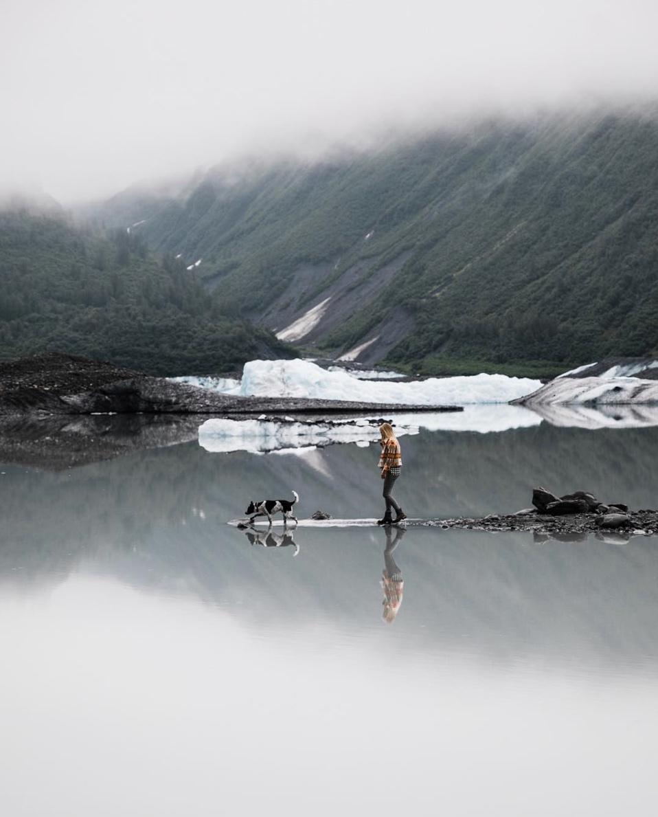 glacial lake in alaska