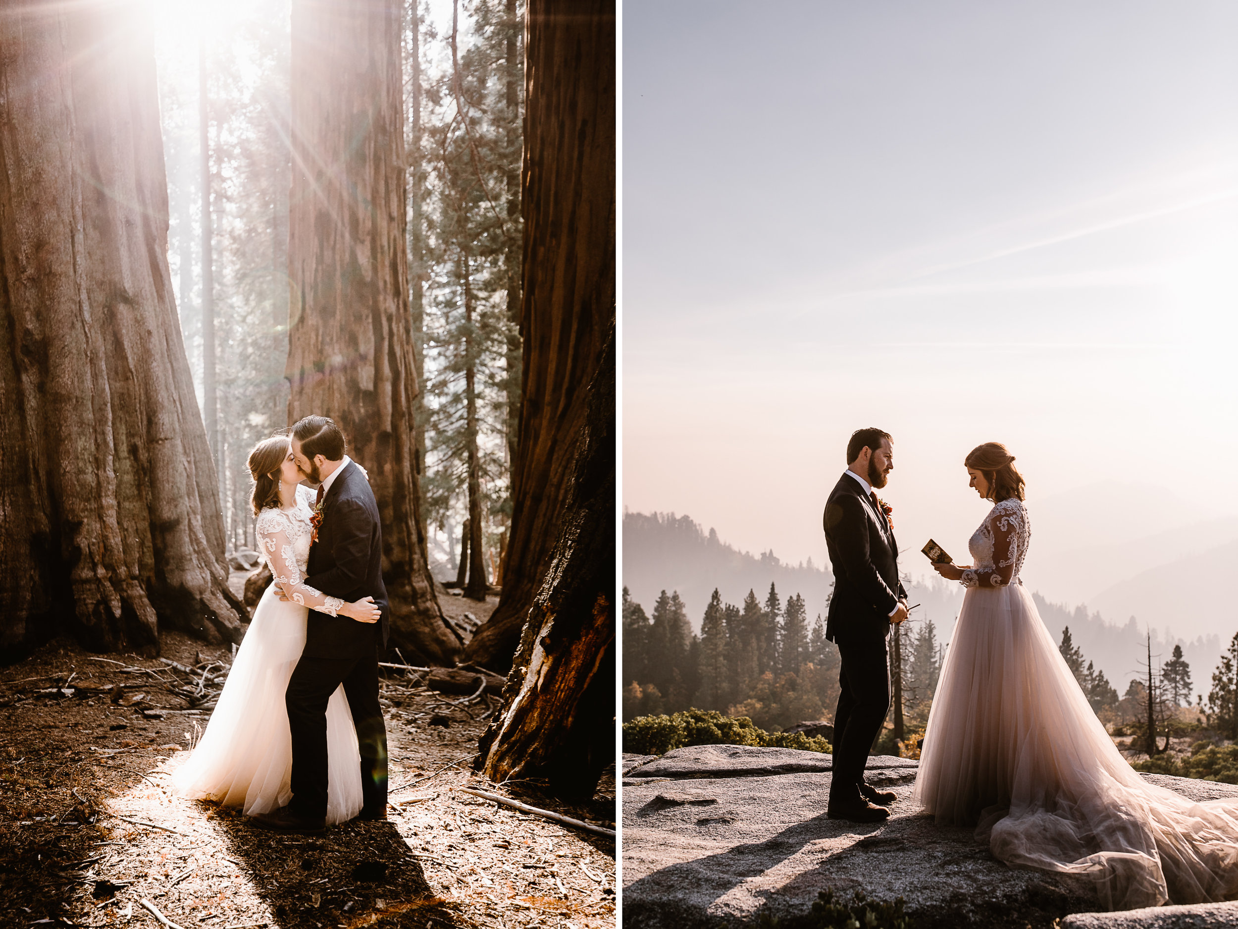 sequoia national park elopement wedding | adventure wedding in a forest | the hearnes adventure photography