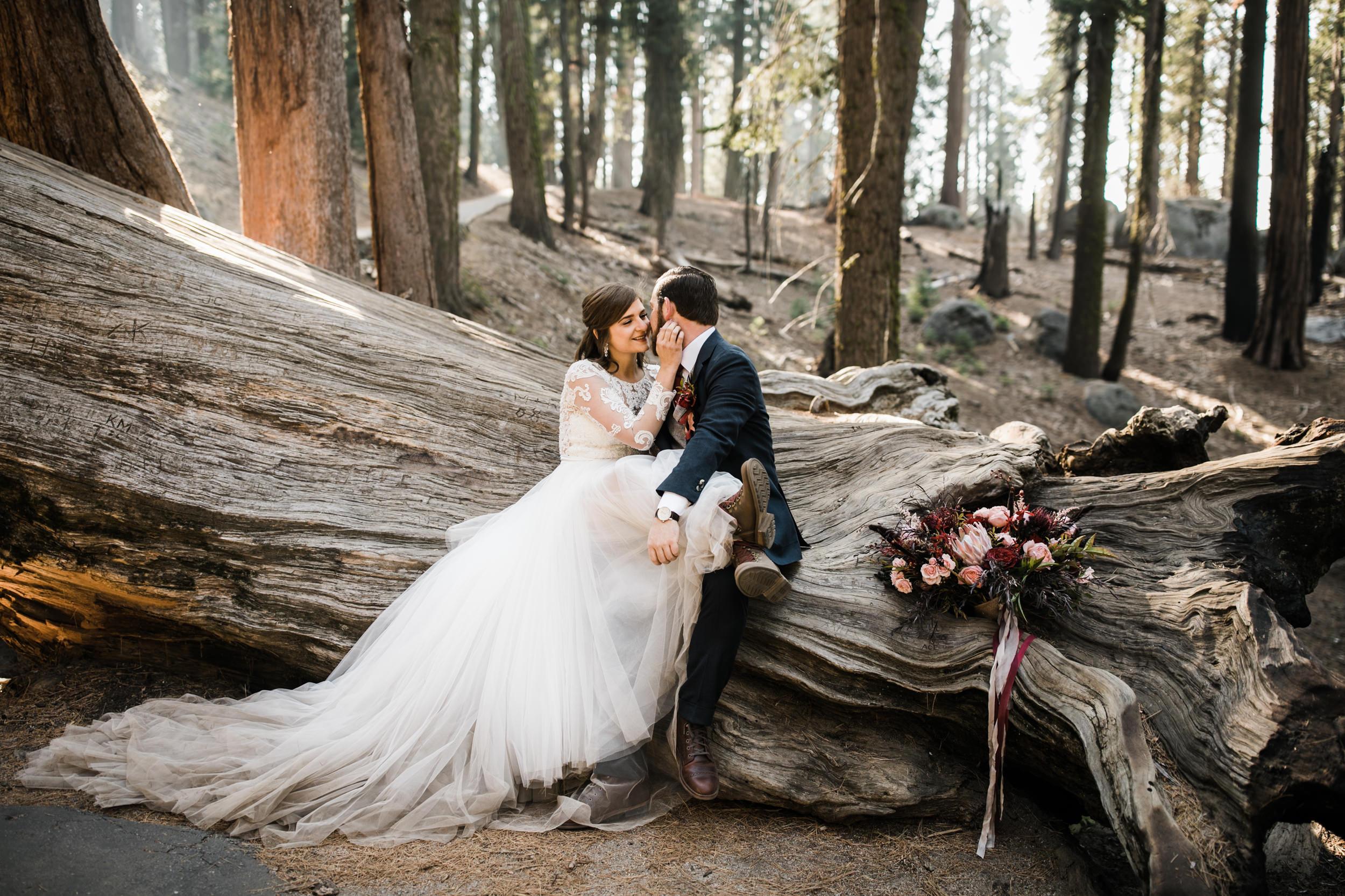 elopement wedding in sequoia national park | adventure weddings in california | the hearnes adventure photography