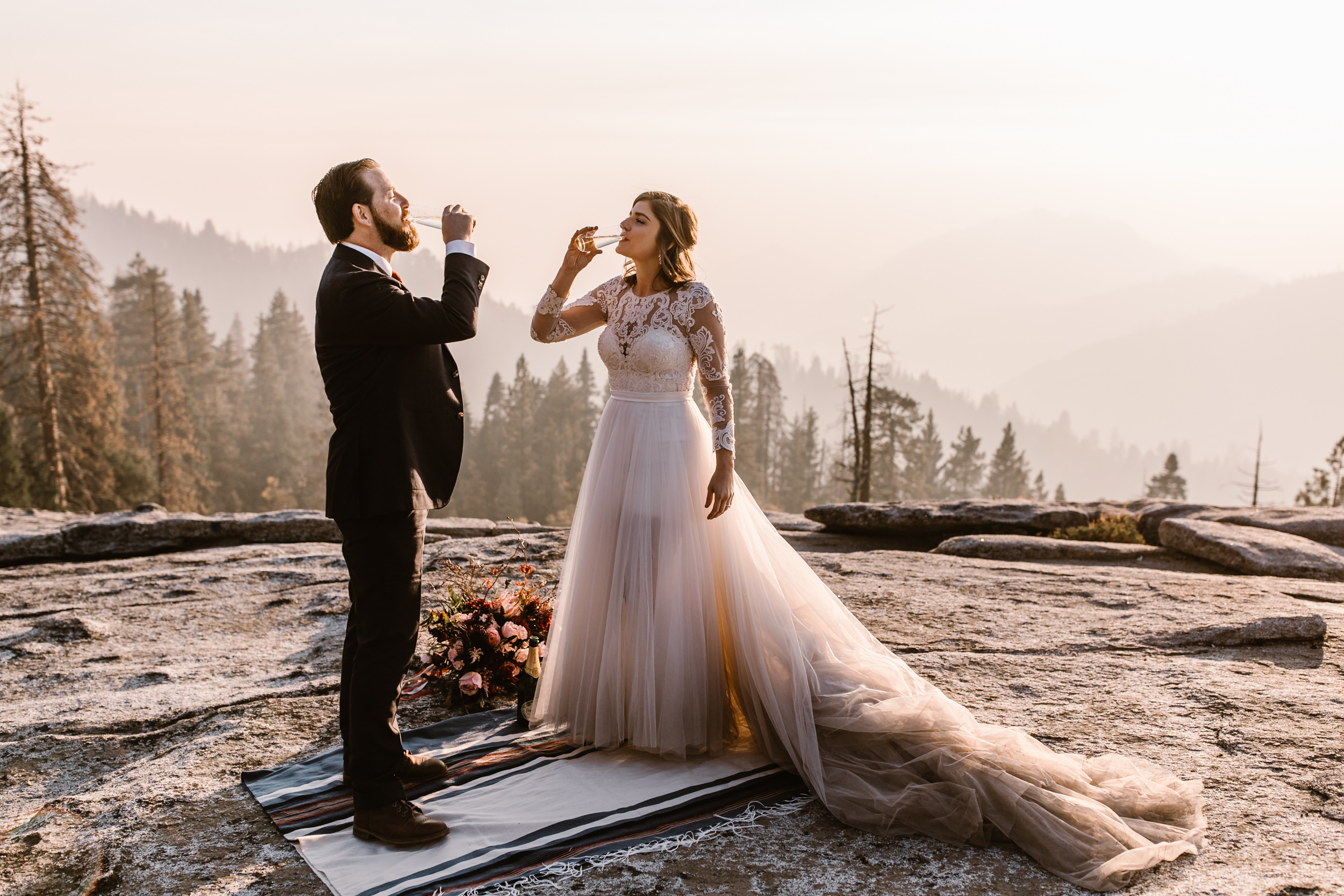 elopement wedding in sequoia national park | adventure weddings in california | the hearnes adventure photography