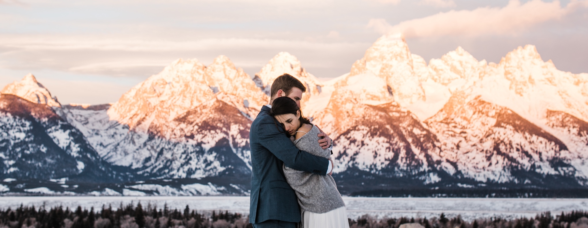 Elopement photography in Grand Teton National Park