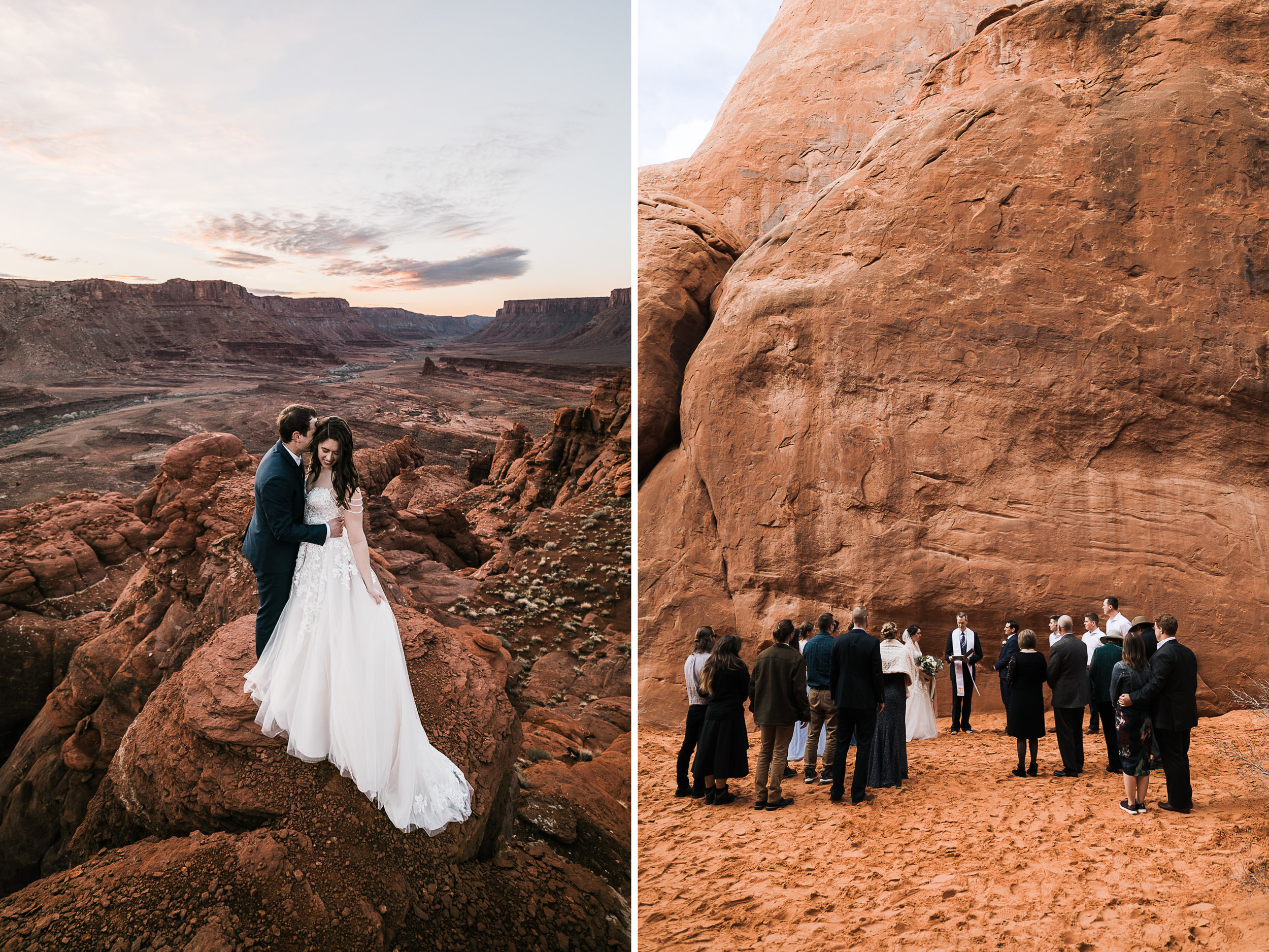 We loved shooting this small wedding in Arches National Park. The ceremony at Sand Arch was the perfect Moab venue for this couple!