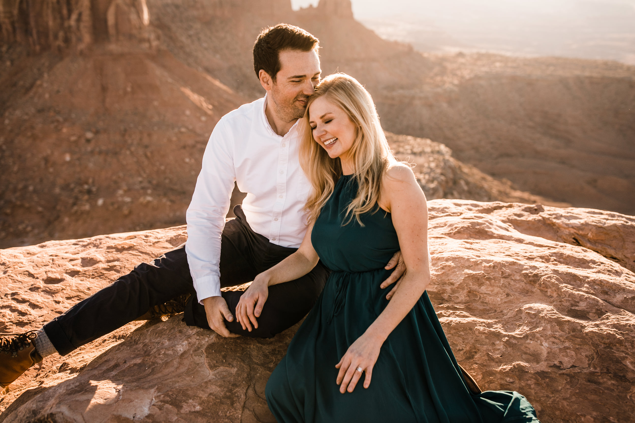 engagement photography session in canyonlands national park near moab utah