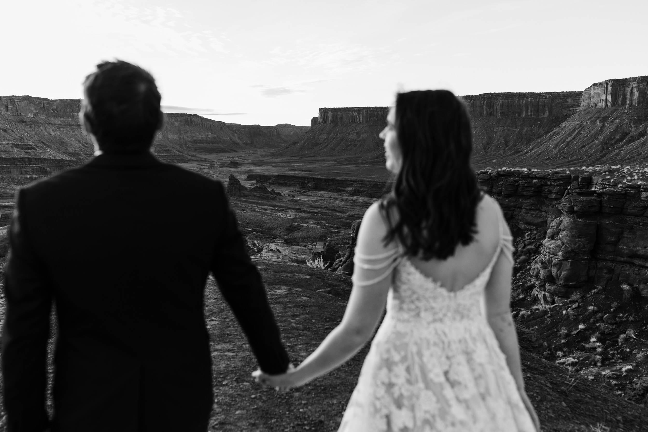 Our couples have so much fun exploring the desert on their wedding day!