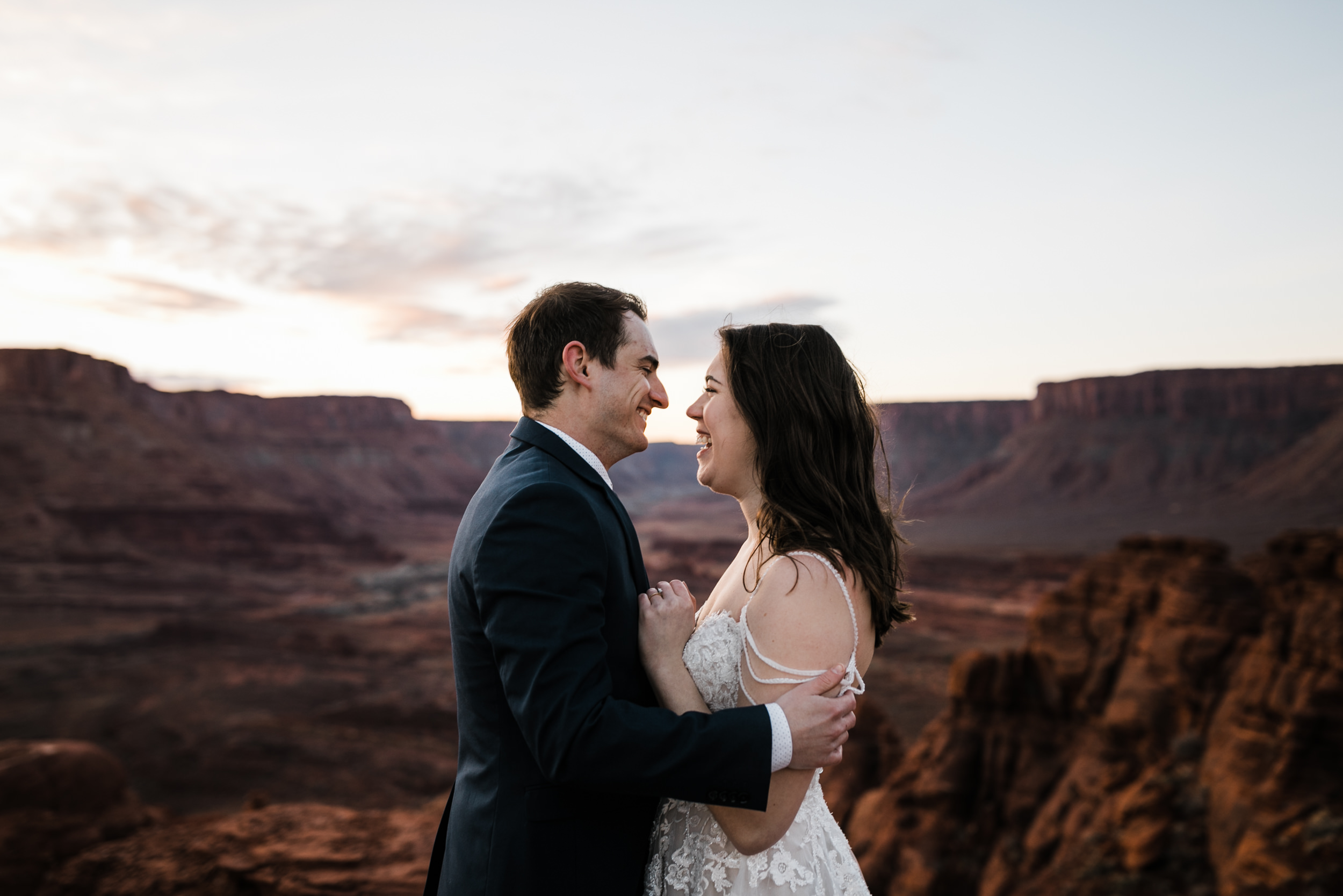 Our couples who elope are always filled with so much joy. This morning in Moab was perfect for them.