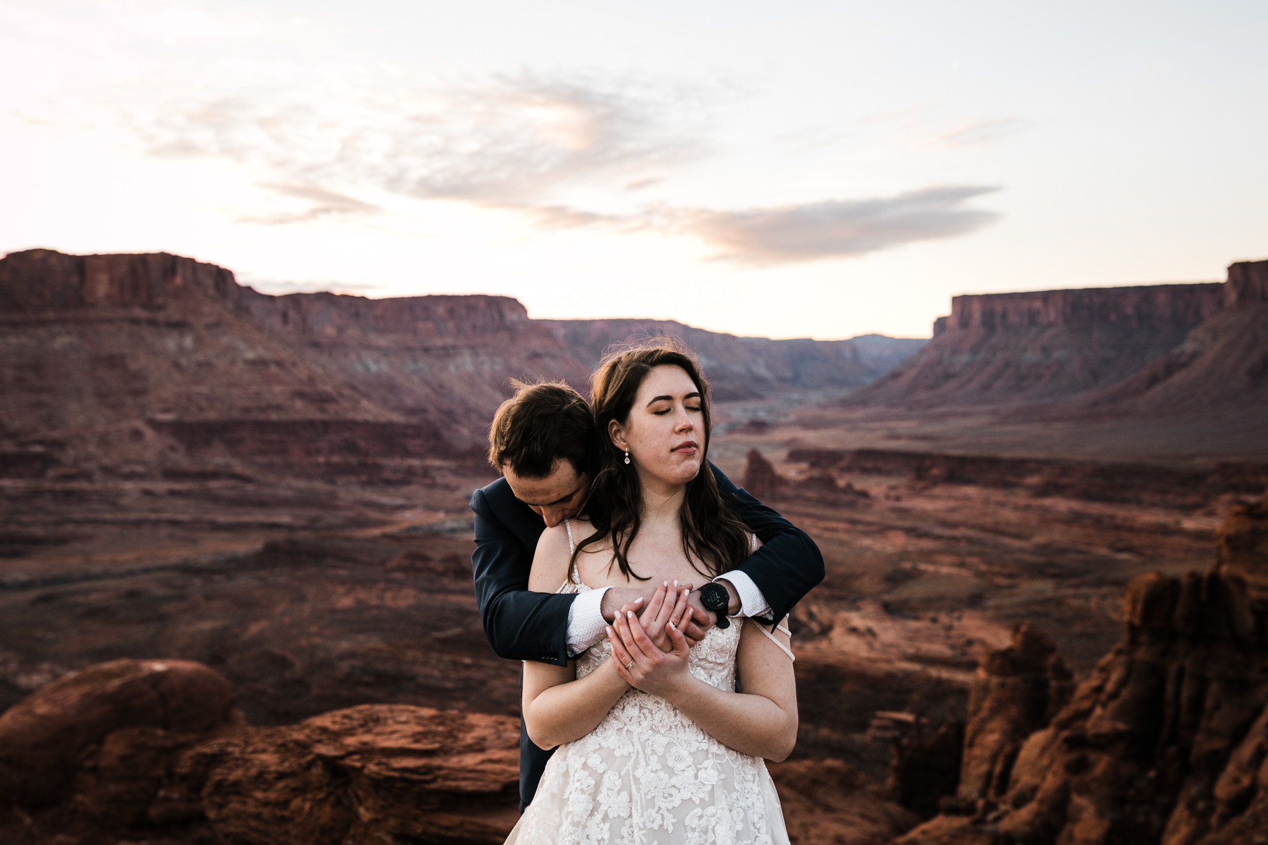Jeff was loving on Claire so hard their whole wedding day in the desert.