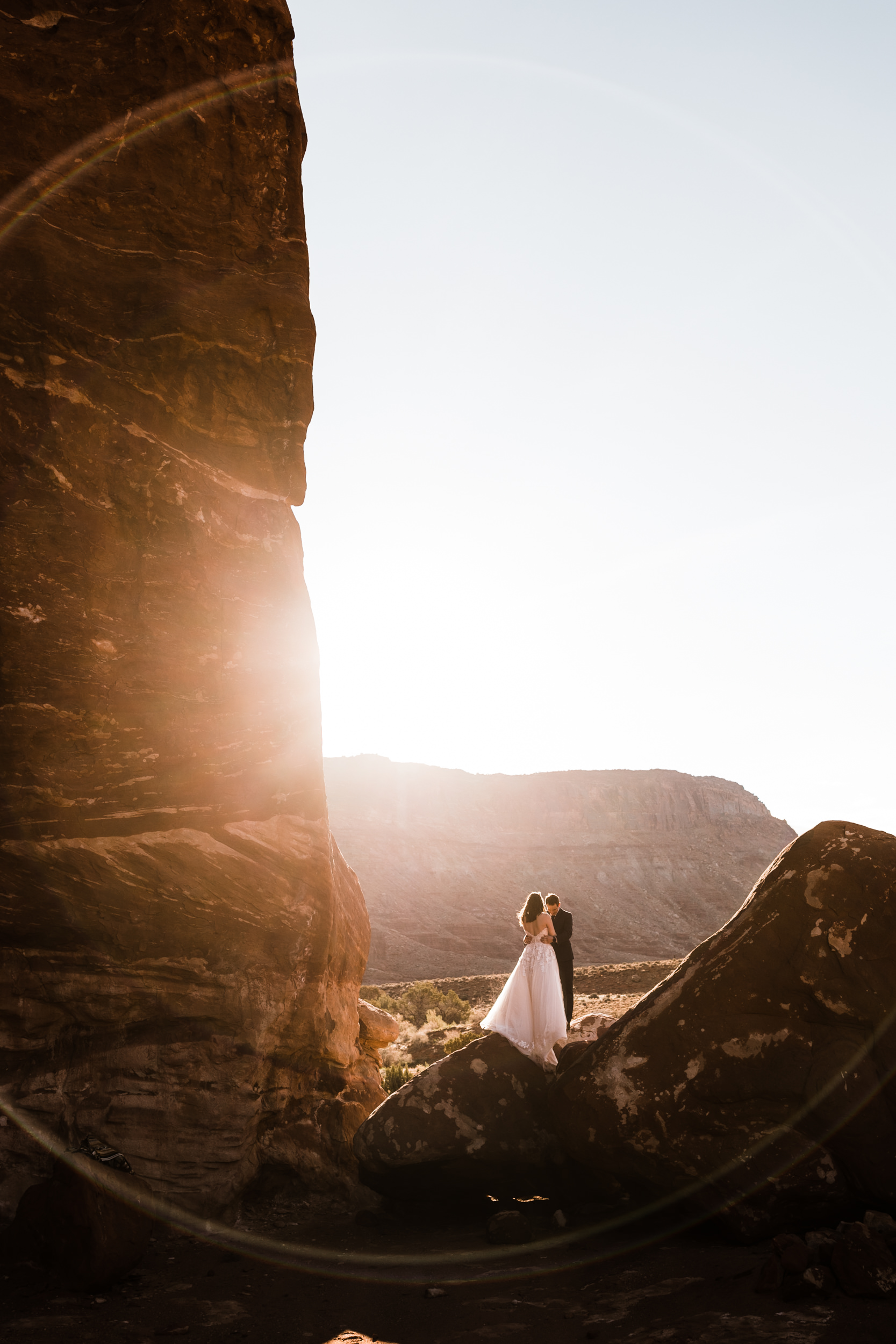 This is one of my favorite shots of their wedding in Moab.
