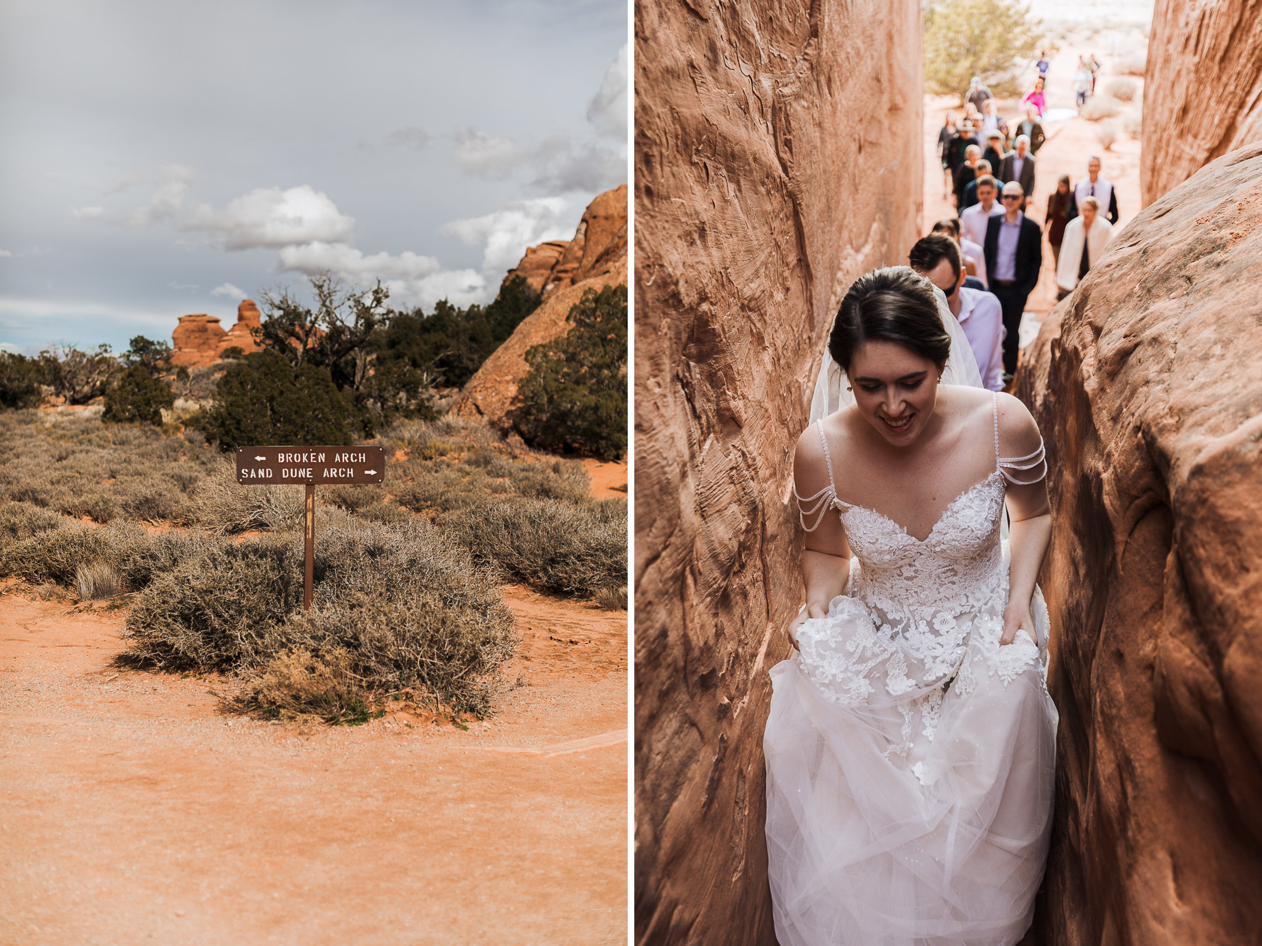 There are only a few designated wedding ceremony locations in Arches National Park.