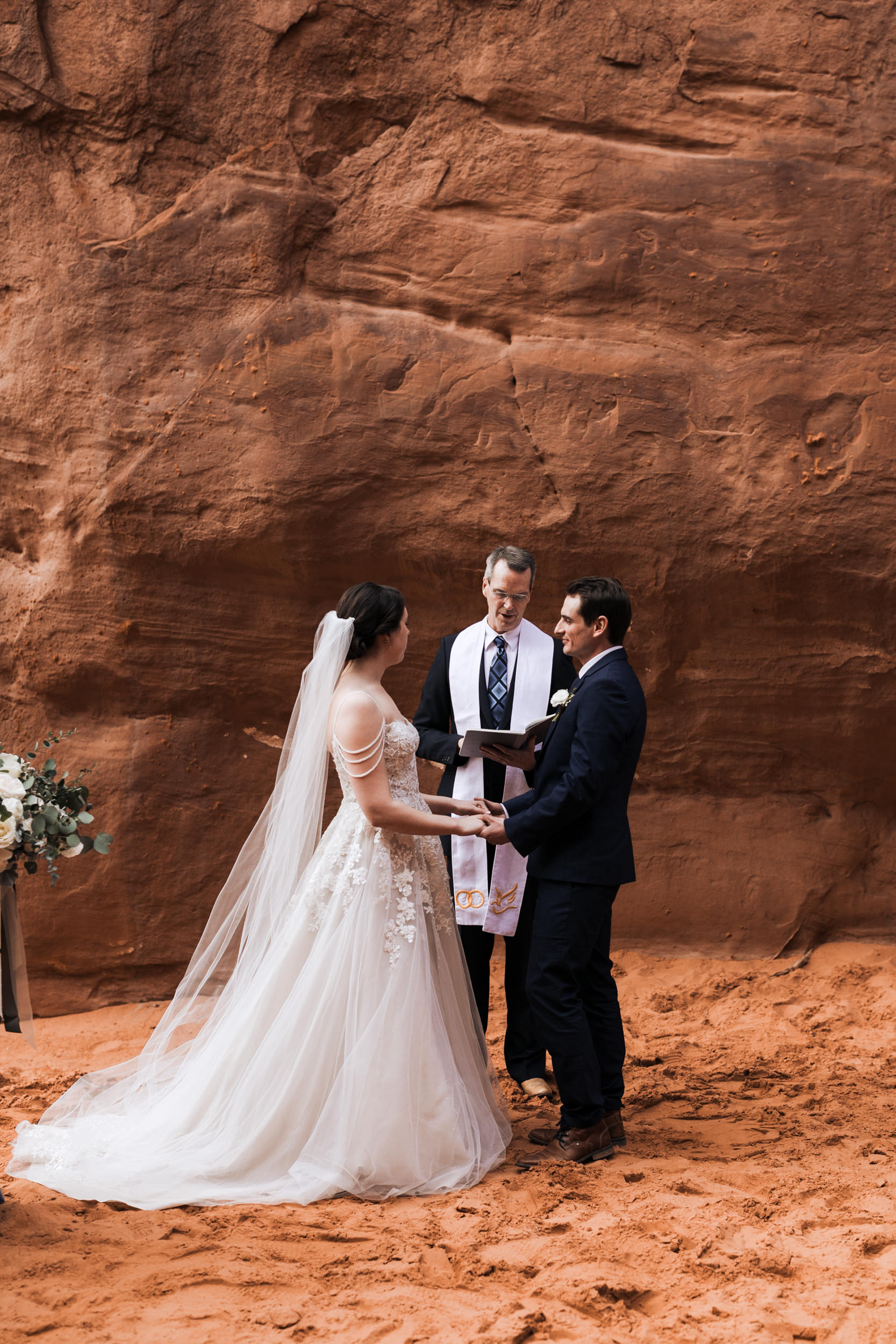 Jeff and Claire had a beautiful wedding ceremony in Arches National Park with their closest friends and family.