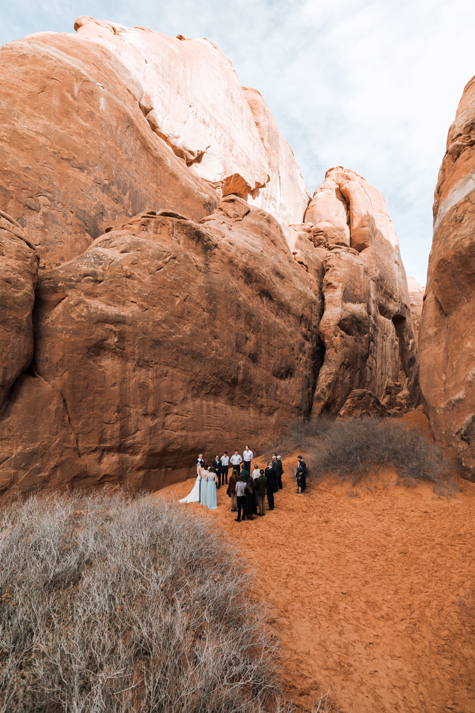 This is one of the designated wedding ceremony locations in Arches National Park.