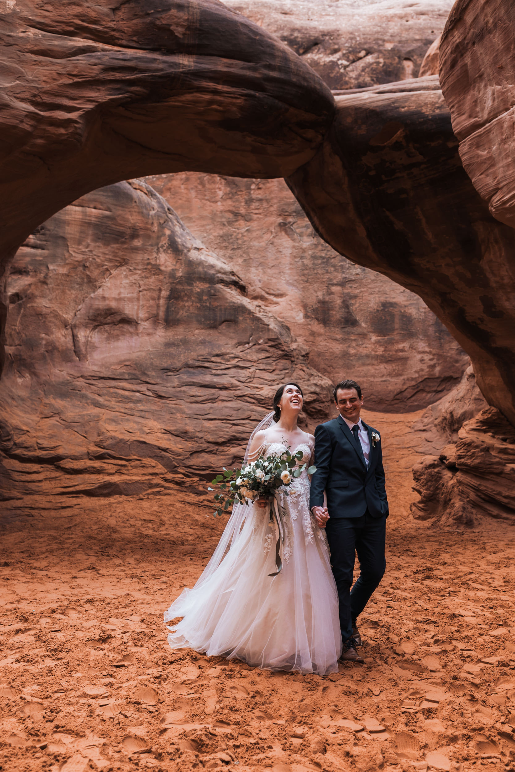 We had such a great time hiking after their wedding ceremony in Arches National Park.