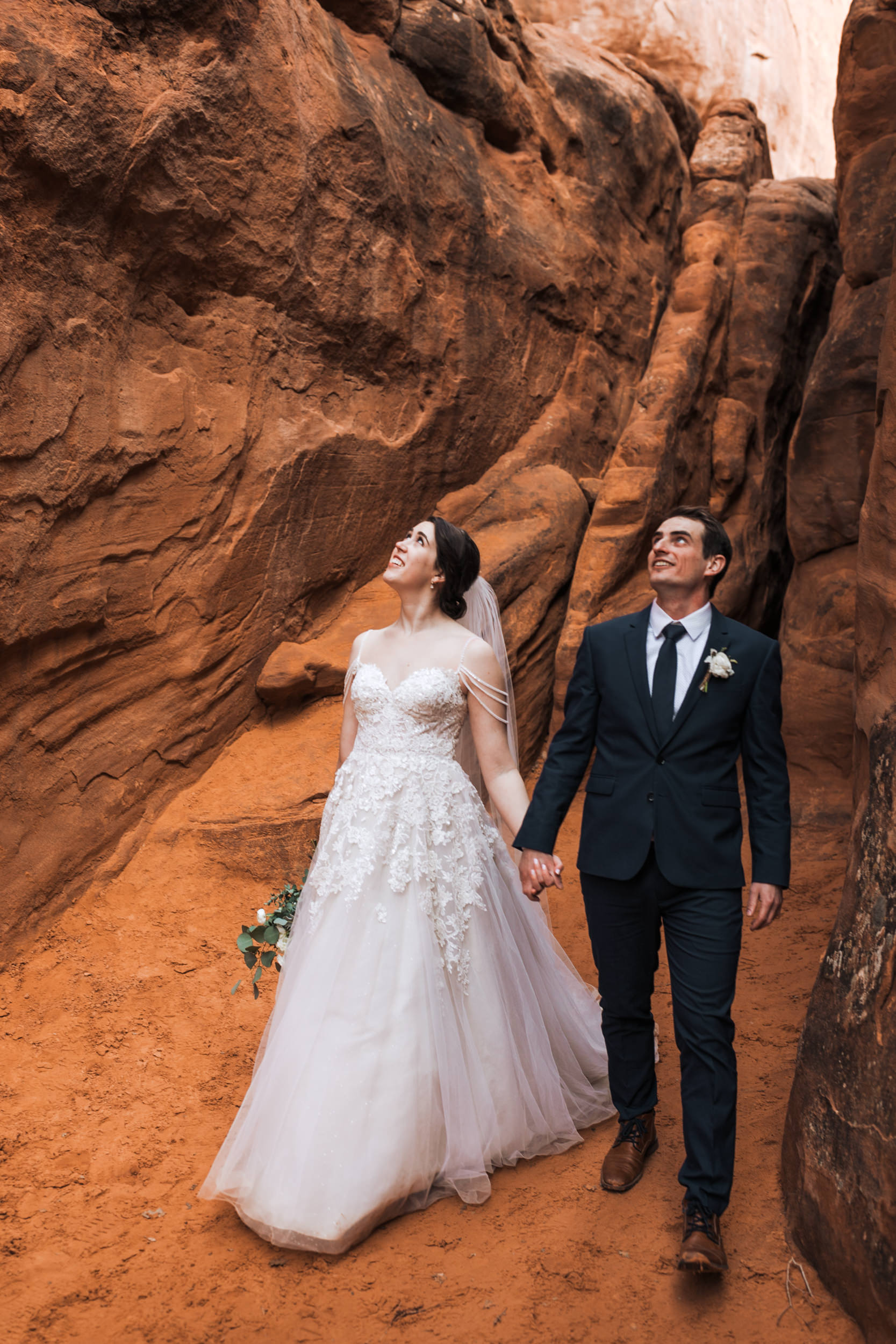 Brides that hike often love the dirt getting on their dresses and opt for boots over shoes!