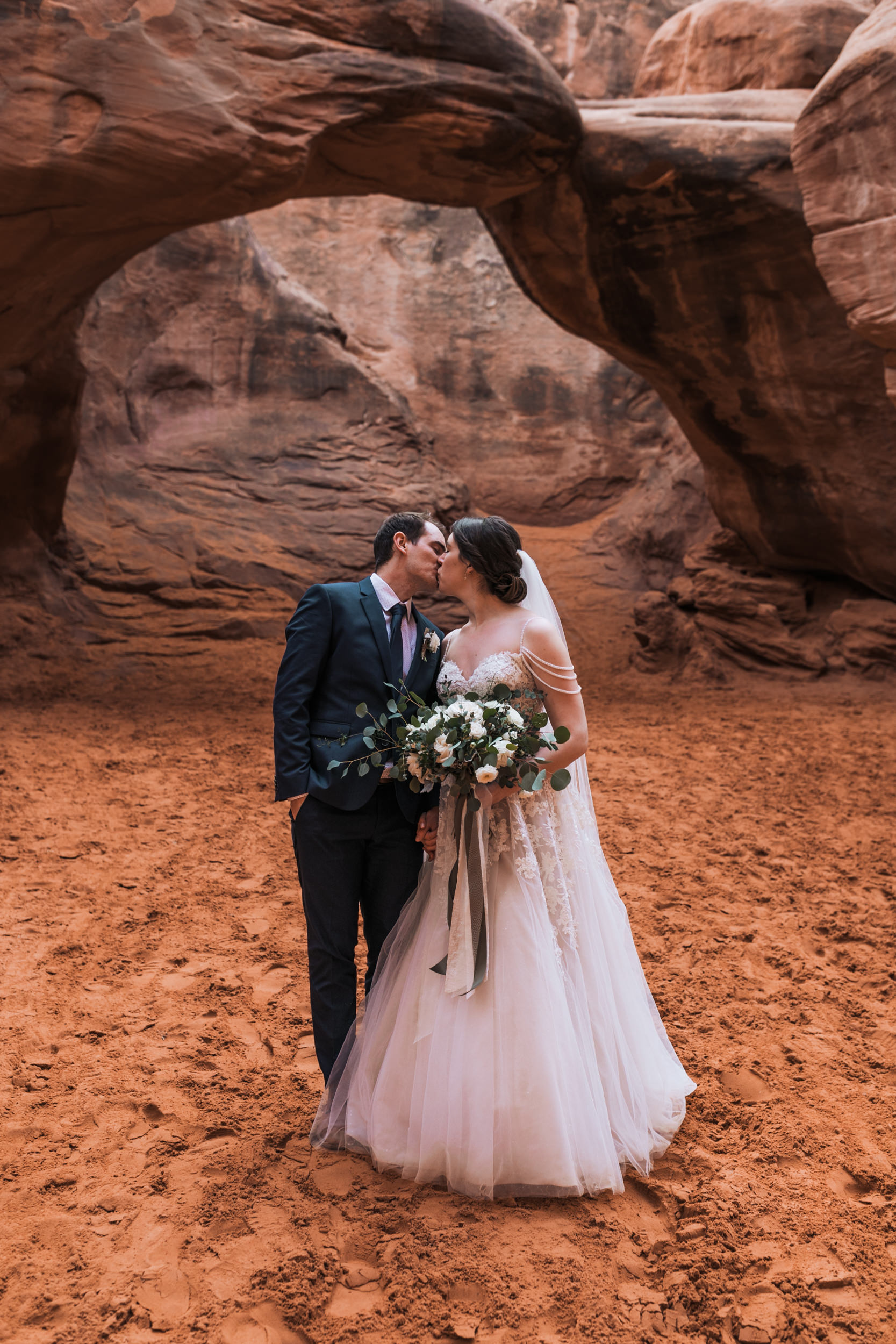Her bouquet was beautiful. We work with such amazing wedding vendors in Moab.