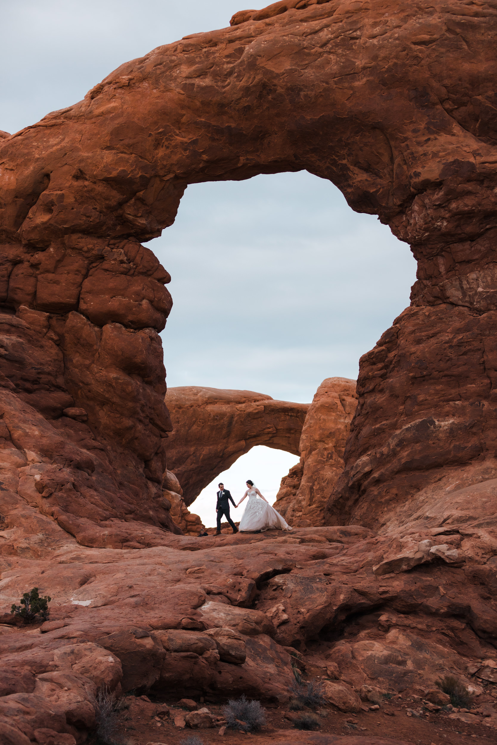 Turret Arch is one of the best places for photography in Arches National Park.