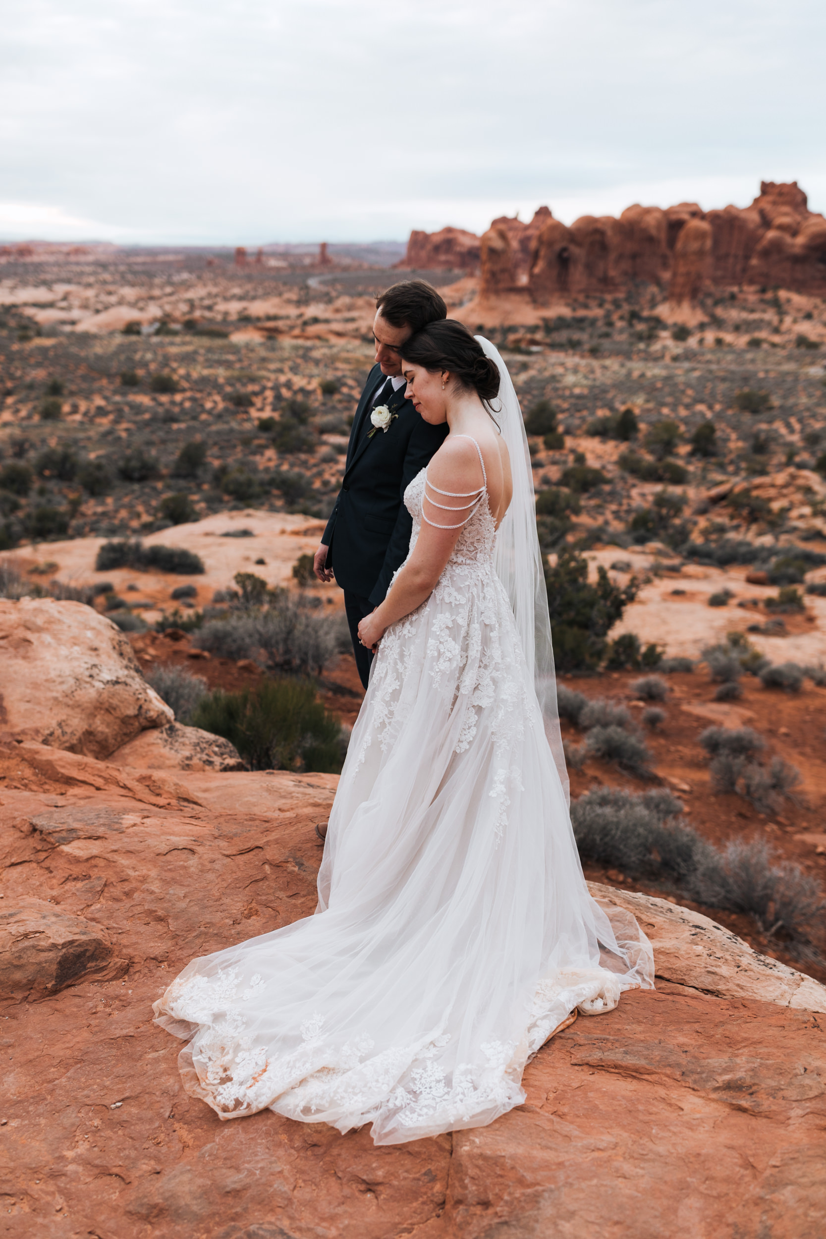 Beautiful views are all over the place in Arches National Park and make for tons of great locations for wedding photography.