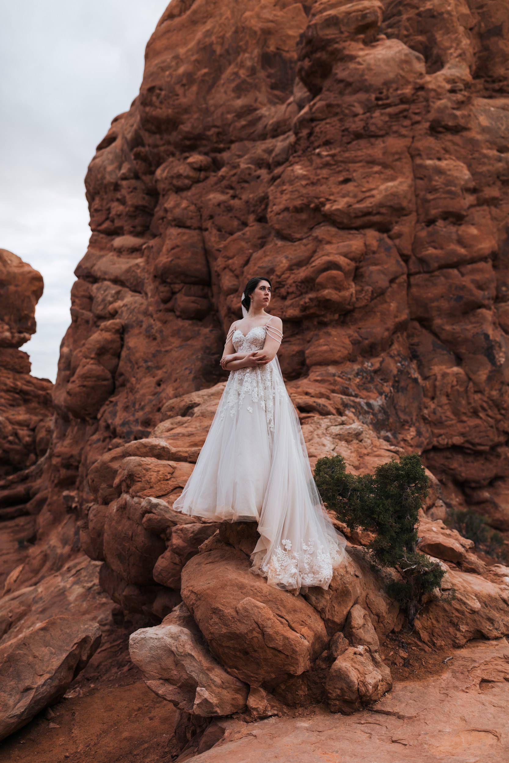 Claire was such a beautiful bride! She came all the way from Minnesota to rock this beautiful dress in the desert.