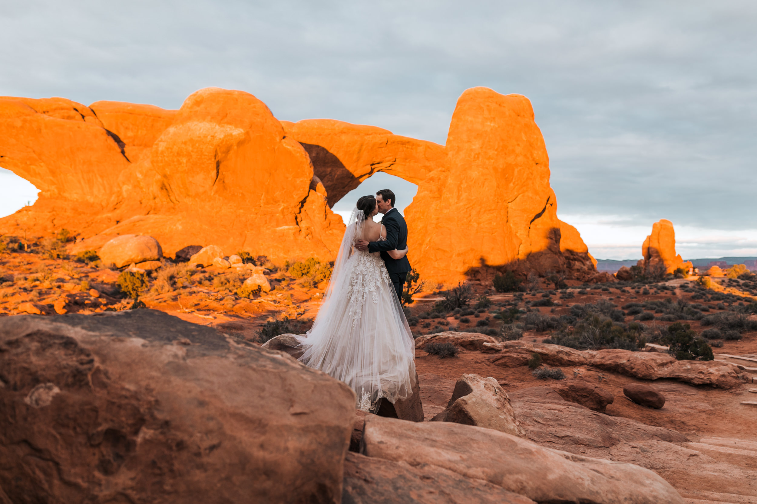 This is one of the best hikes to take at sunset in Arches National Park in Moab, Utah.
