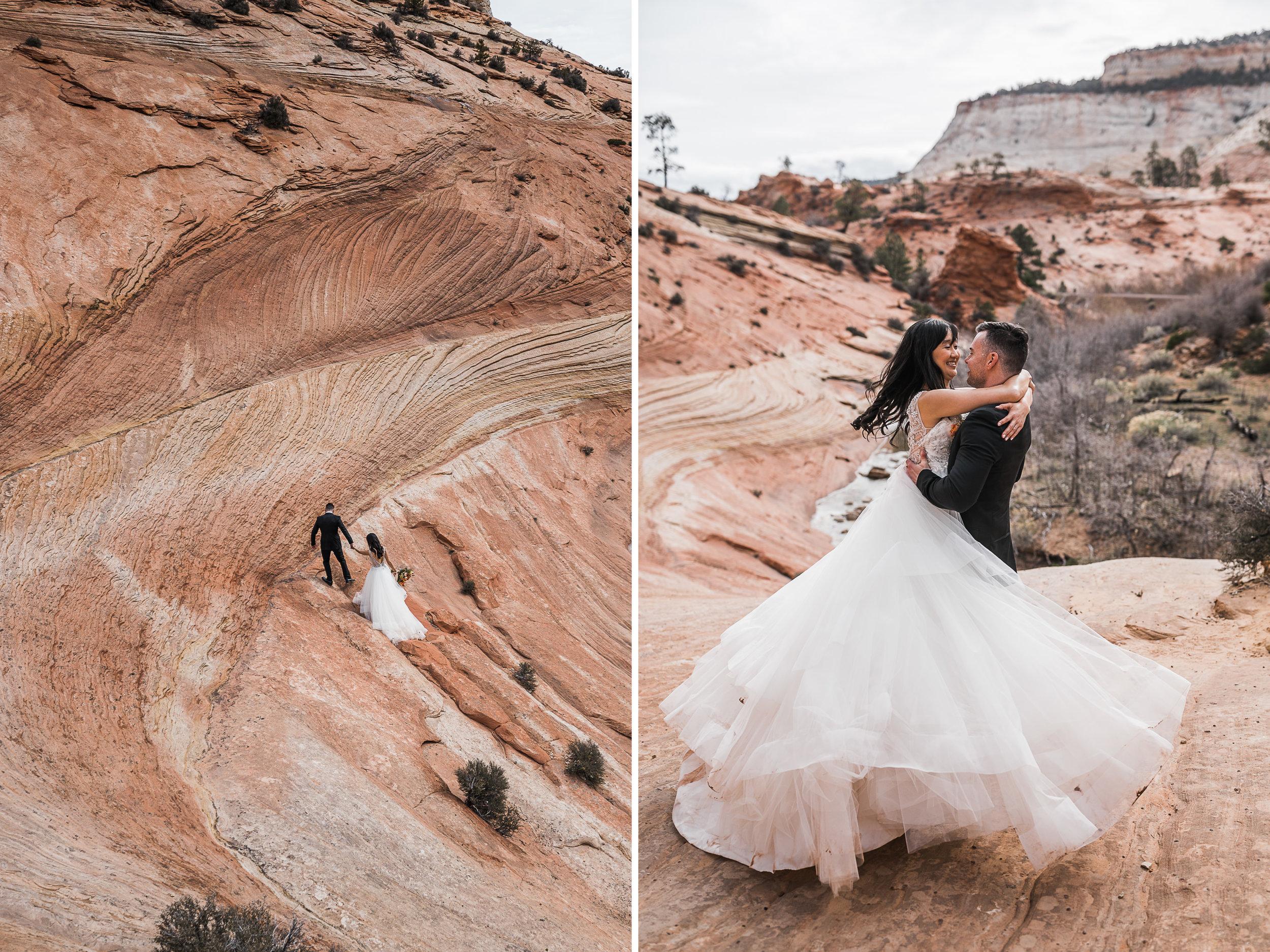 The Hearnes Adventure Elopement Photography Kanab Utah