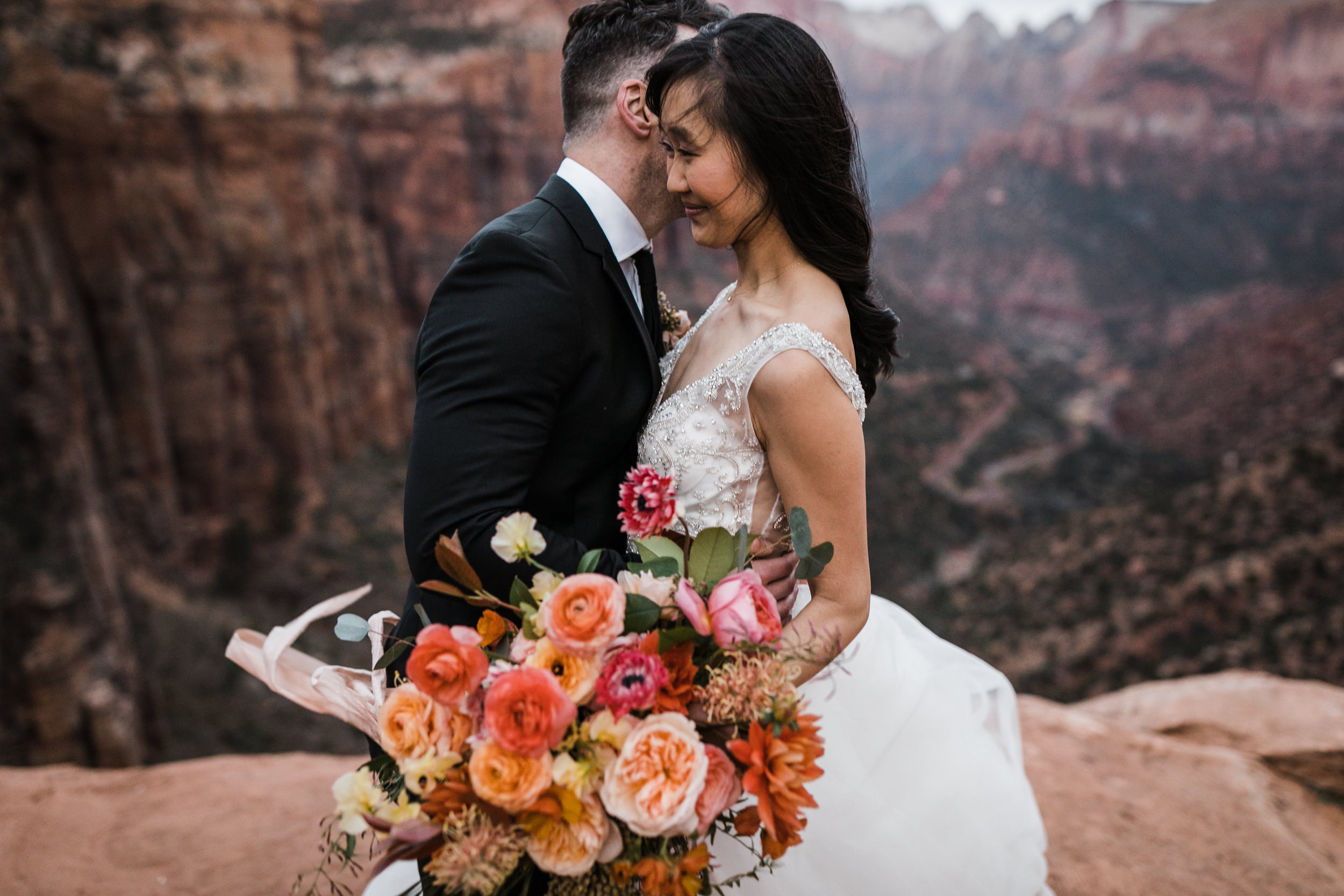 Wedding Photography in Zion National Park Springtime