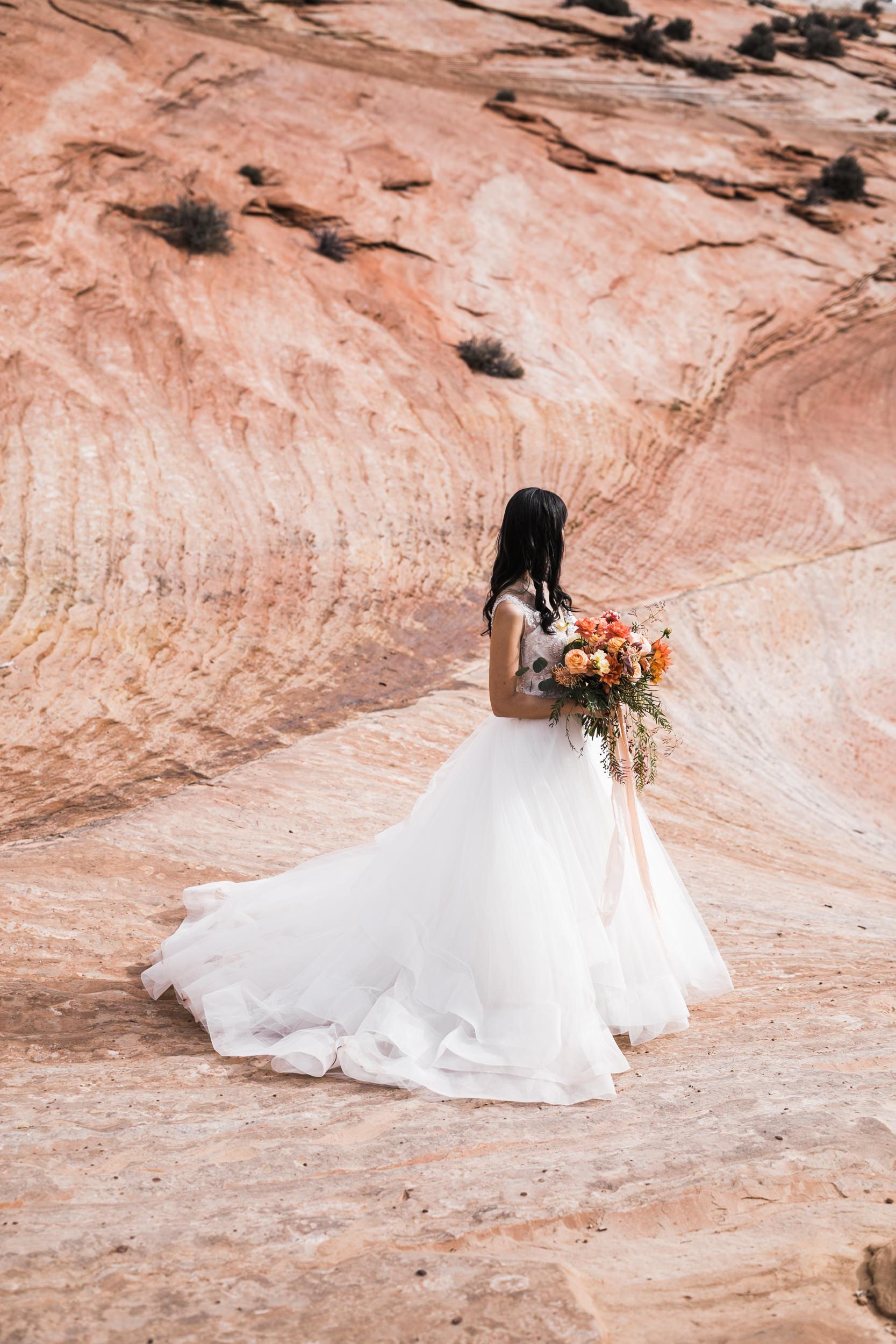 Hiking Elopement Adventure Bride The Hearnes