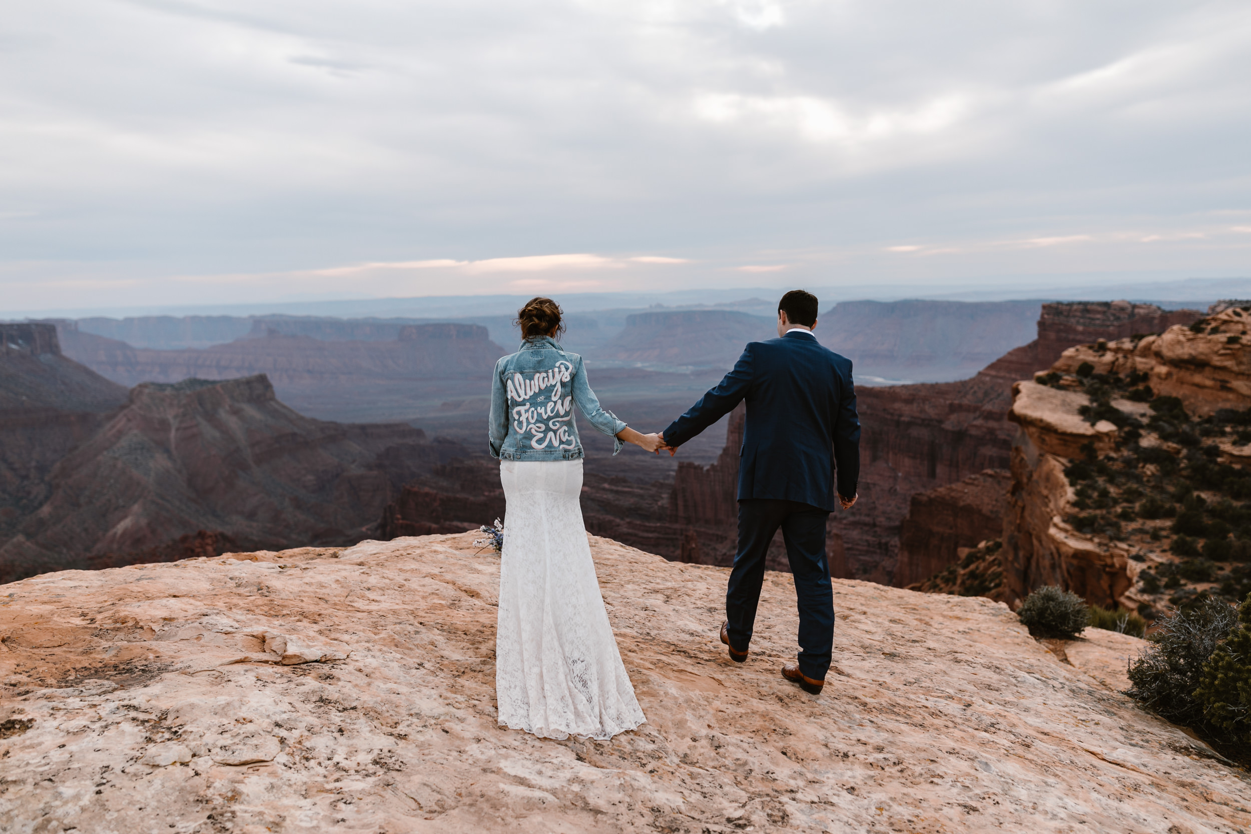 The Hearnes Adventure Elopement Photography Elopement On Canyon Edge in Moab Utah