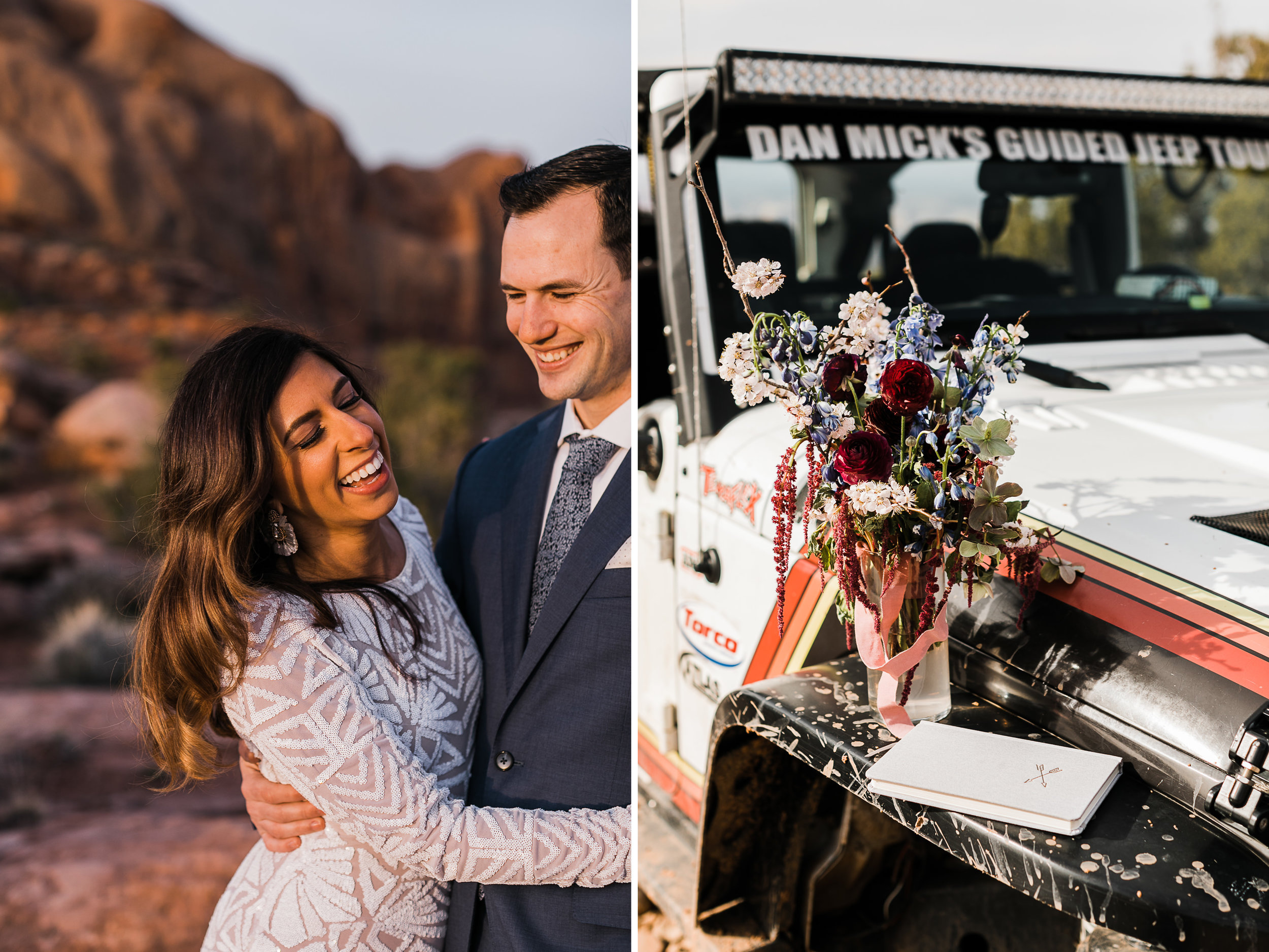 The Hearnes Wedding Photography Jeep Elopement Adventure in Moab Utah