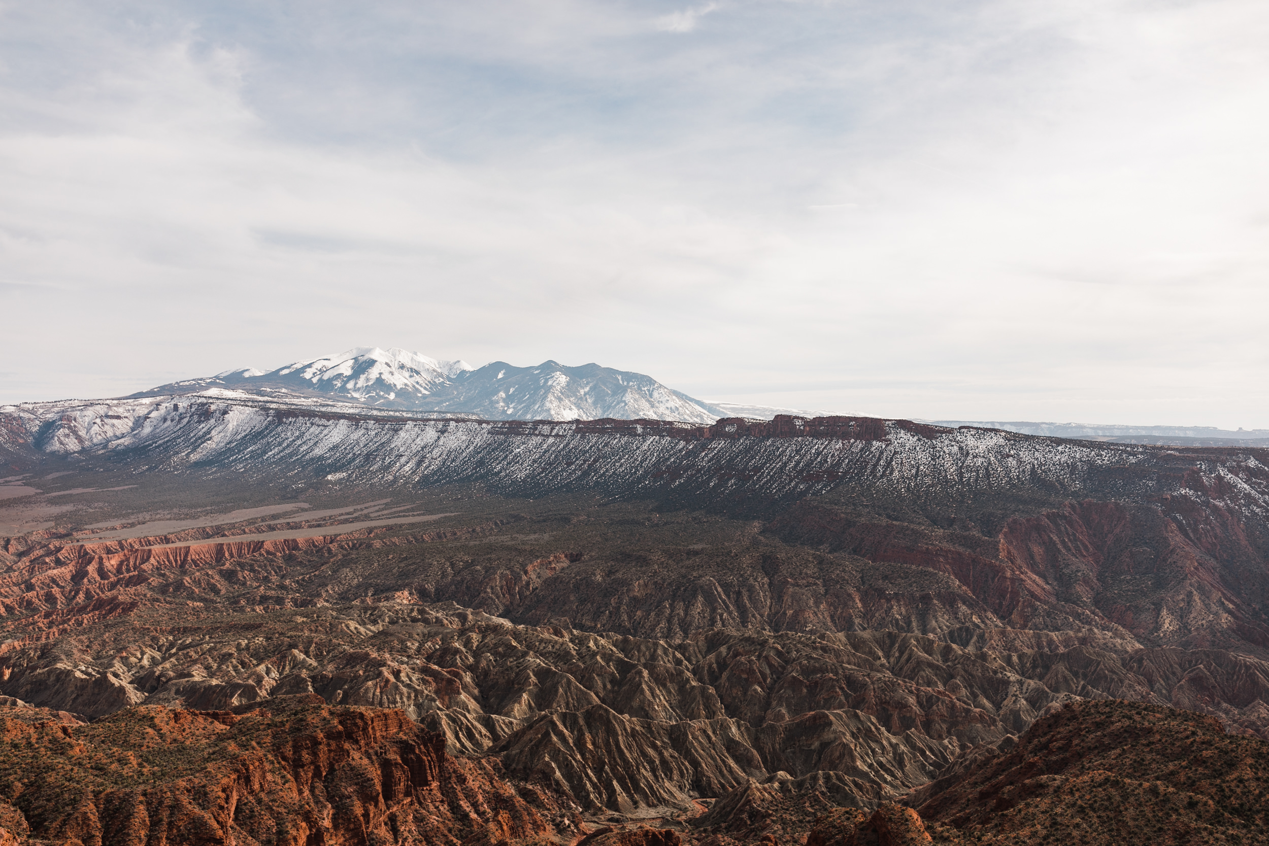The Hearnes Adventure Elopement Landscape over moab