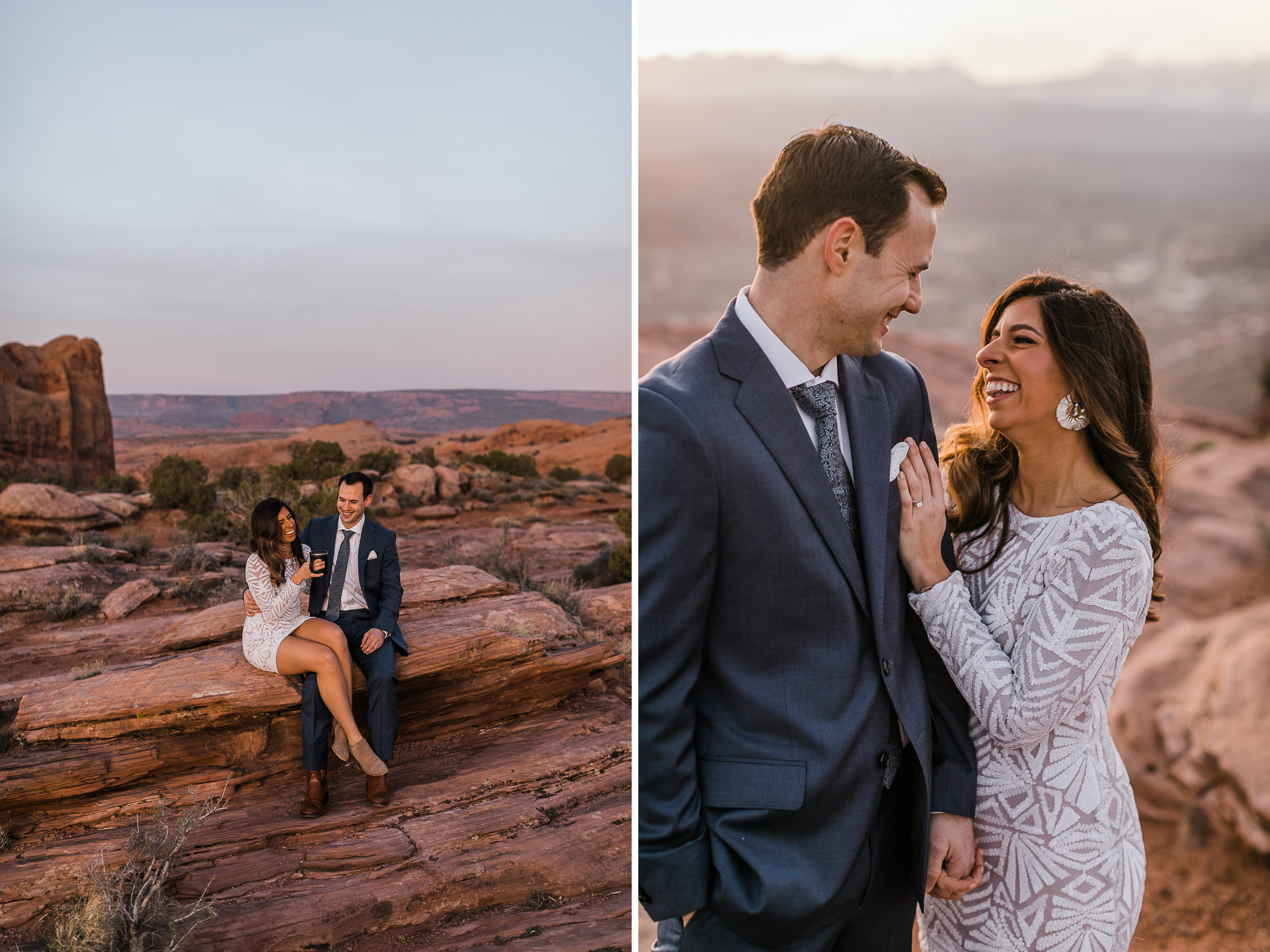 The Hearnes Adventure Elopement Outside Arches National Park