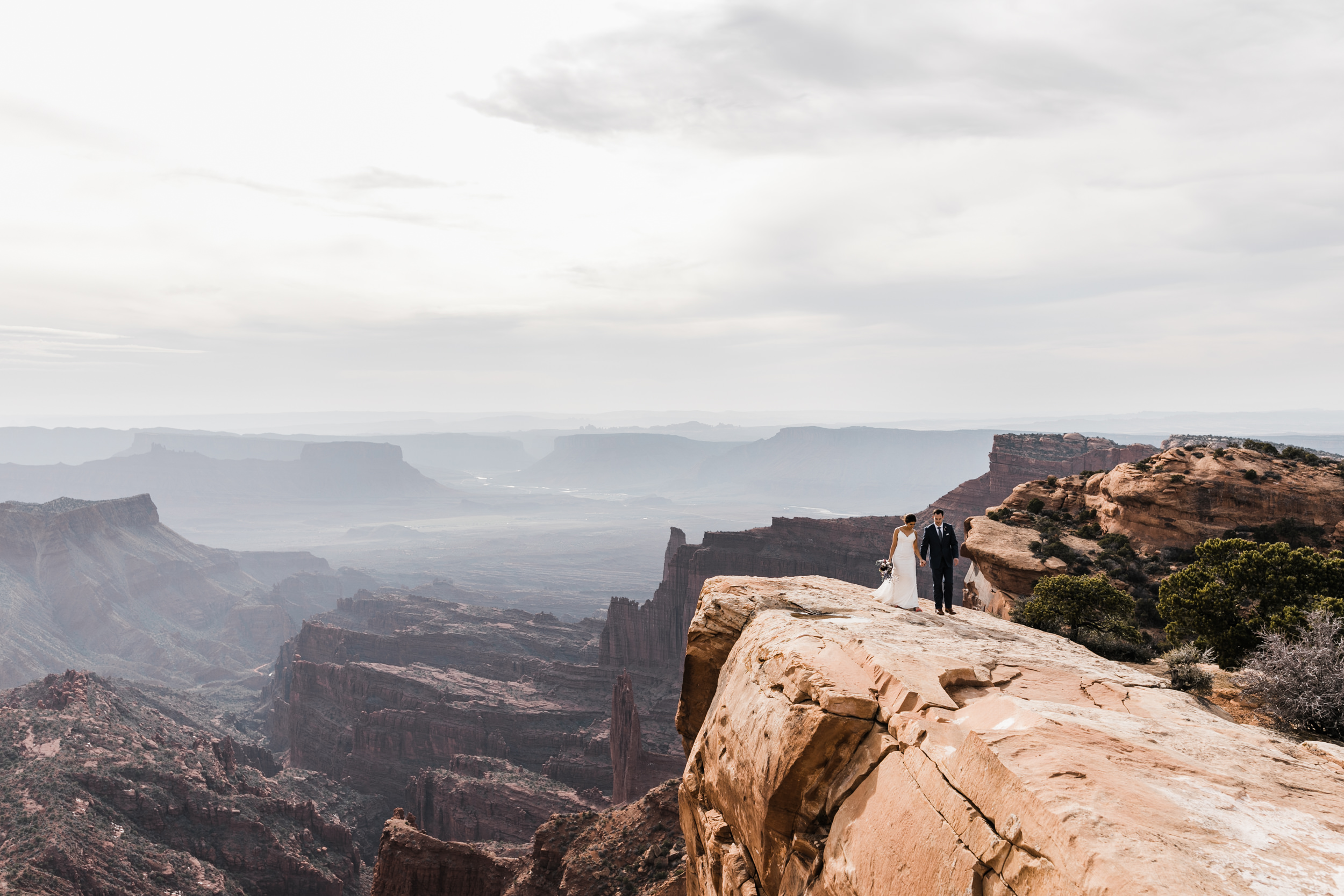 The Hearnes Adventure Wedding in Moab Utah  Overlook