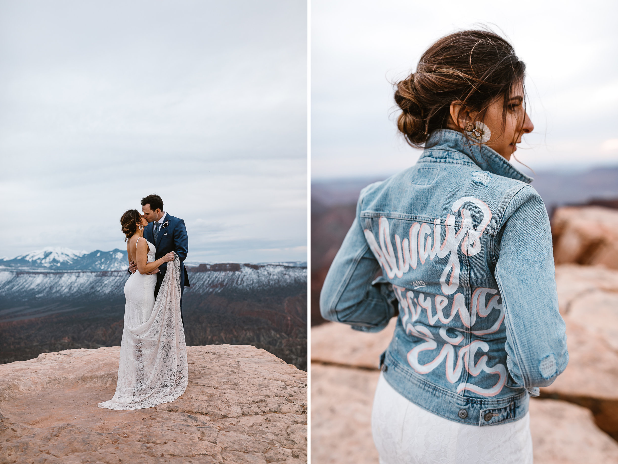 The Hearnes Adventure Wedding in Moab Utah Style and Dress