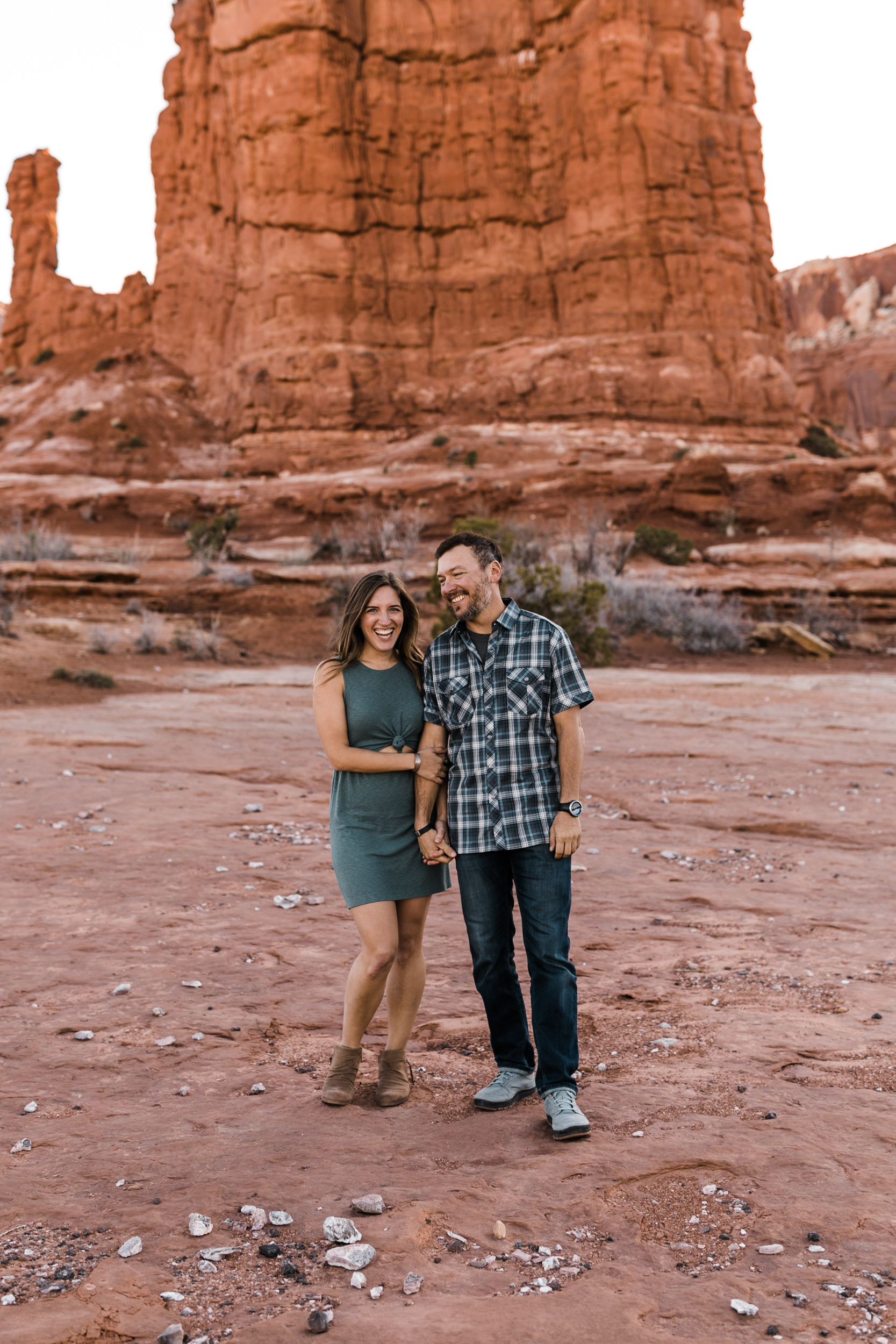 moab, utah adventure engagement session