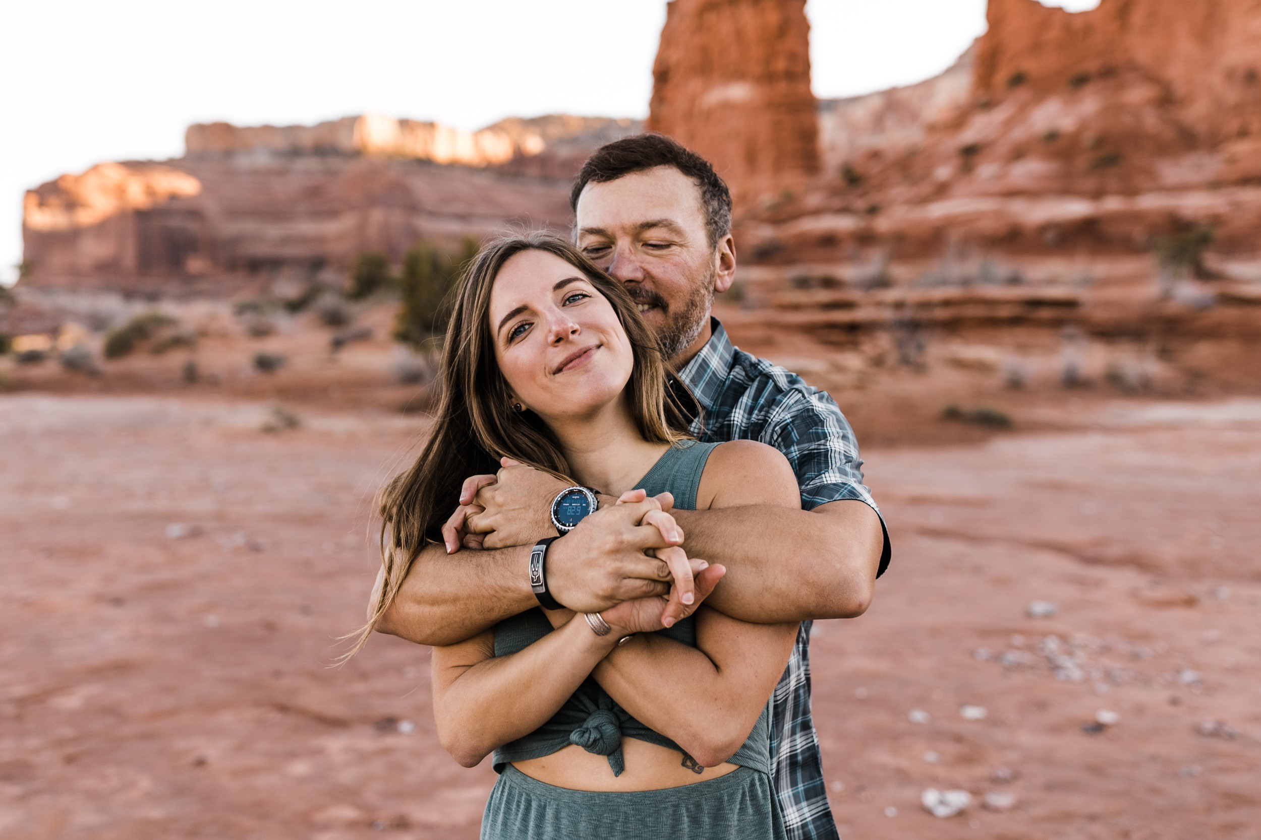 inspiration for engagement photos in moab