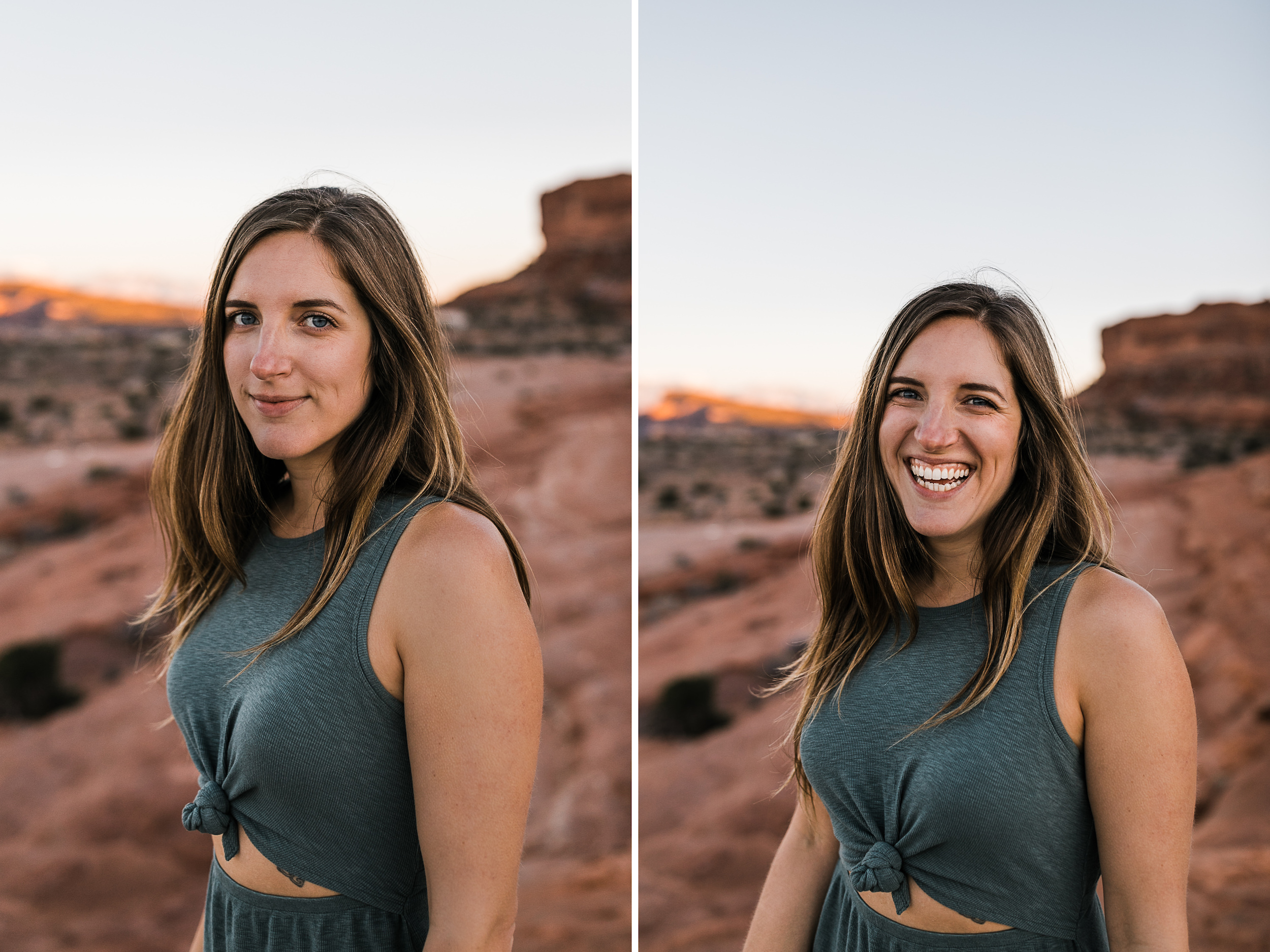 what to wear for adventurous engagement photos in the desert