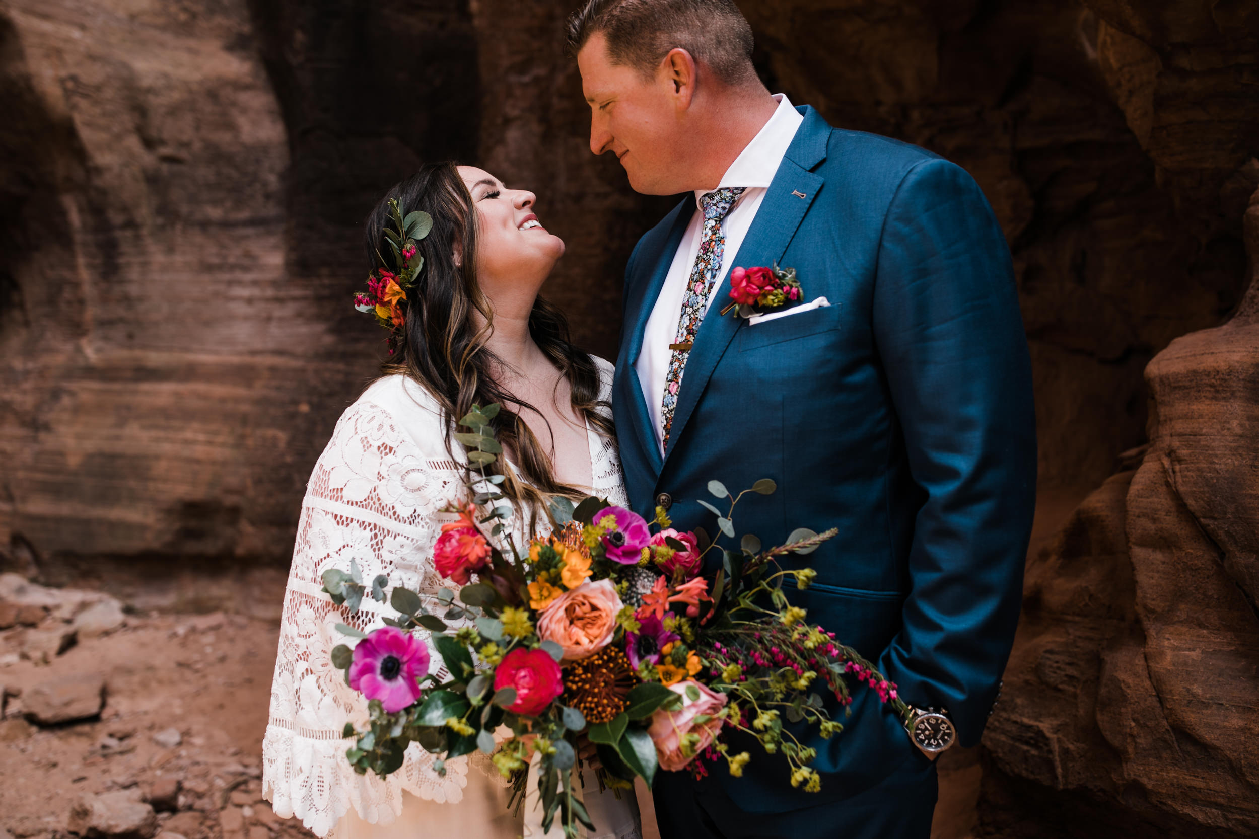 Zion national park elopement photographer | intimate wedding in the desert | alternate wedding ideas | the hearnes adventure photography