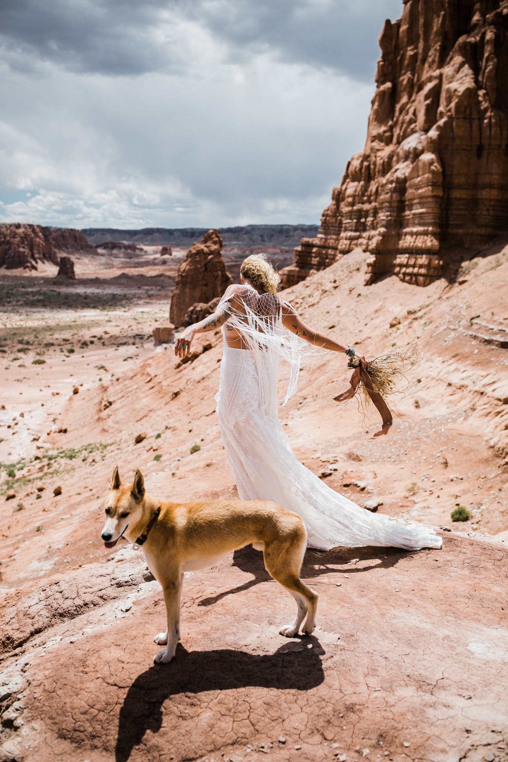 brianna madia elopement portraits with keith and their dogs bucket and dagwood