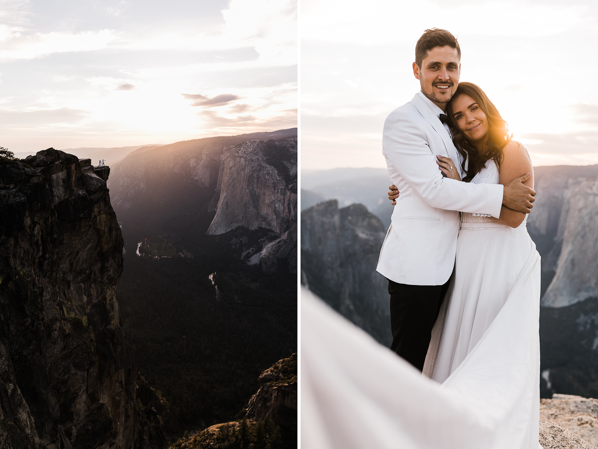 Jaime + Christian's Adventurous Elopement in Yosemite National Park | Glacier Point Sunrise First Look + Taft Point Ceremony