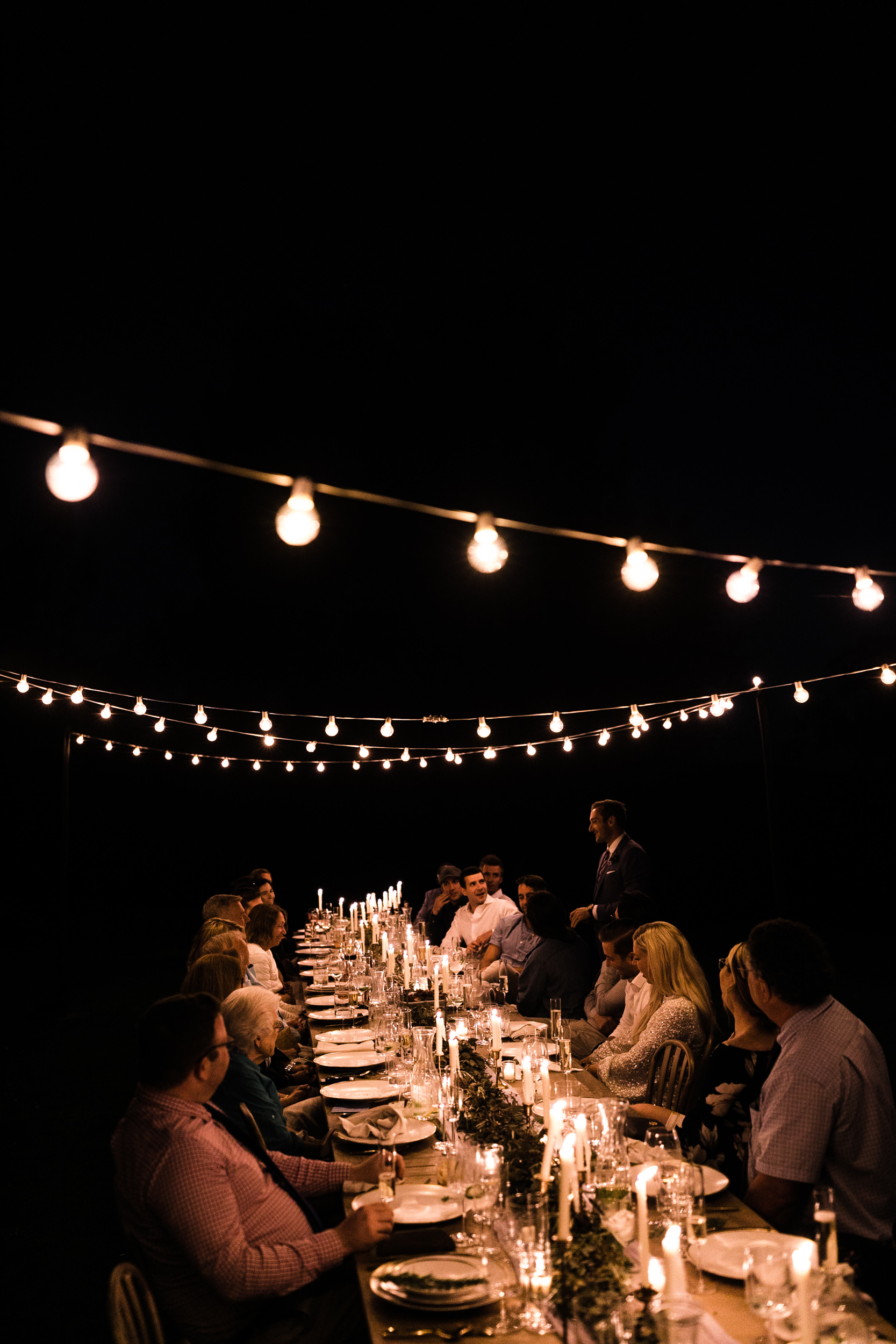 Erika + Grant's intimate Yosemite National Park destination wedding + romantic backyard reception under twinkle lights | the hearnes adventure photography
