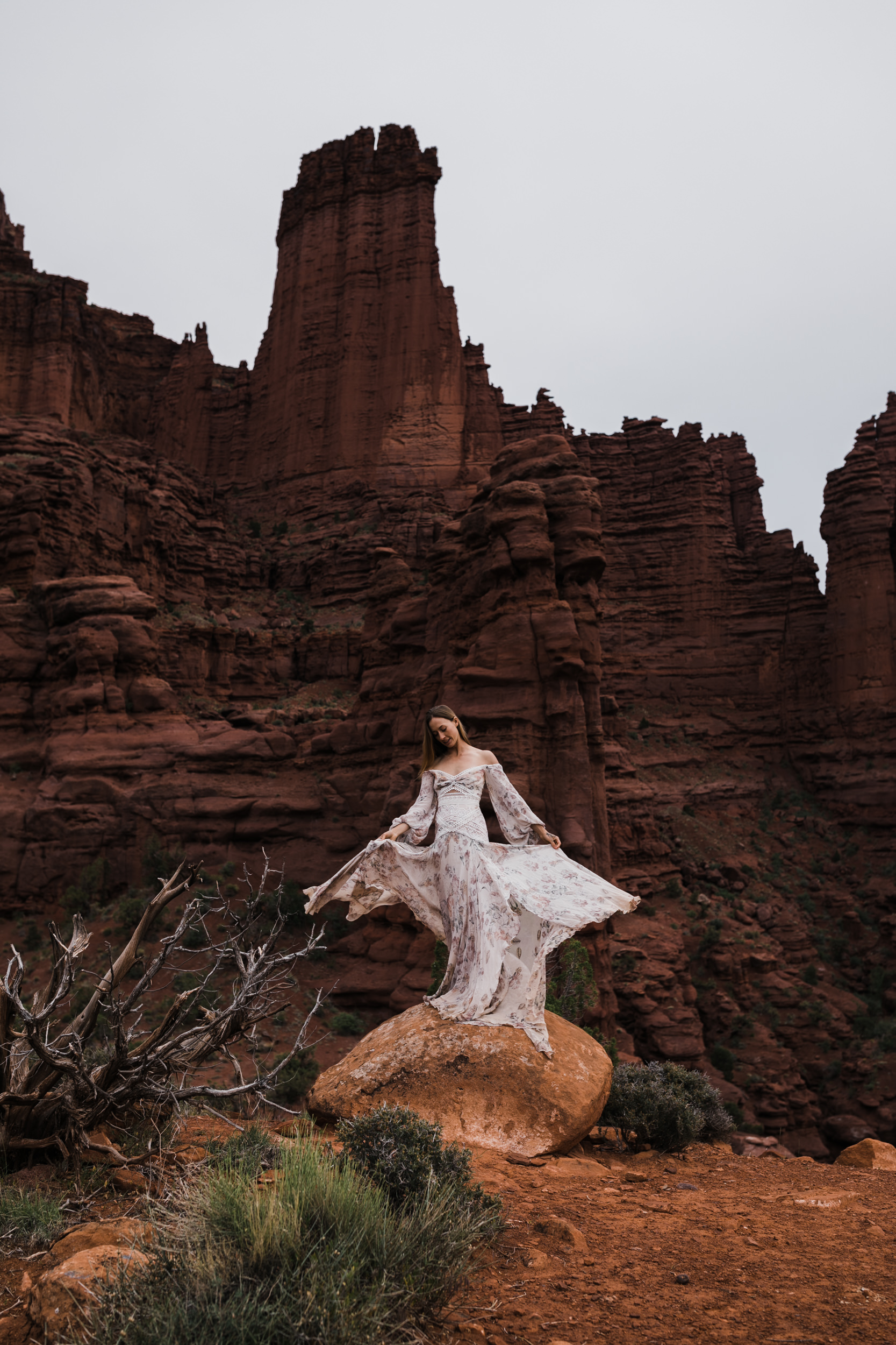"""Adventurous Elopement Inspiration in Moab, Utah 