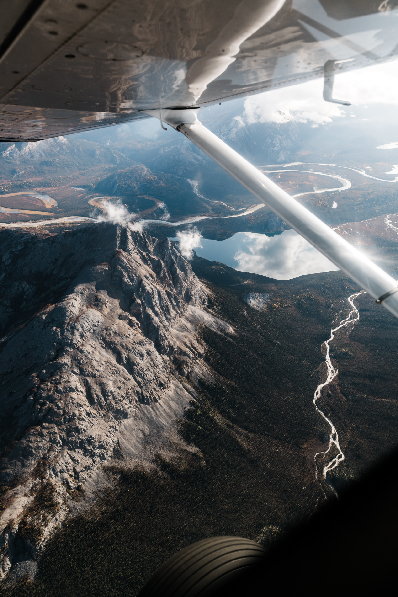 Flight tour of the Arrigetch Peaks in the Brooks Range, Gates of the Arctic National Park in northern Alaska | The Hearnes Adventure Wedding Photography