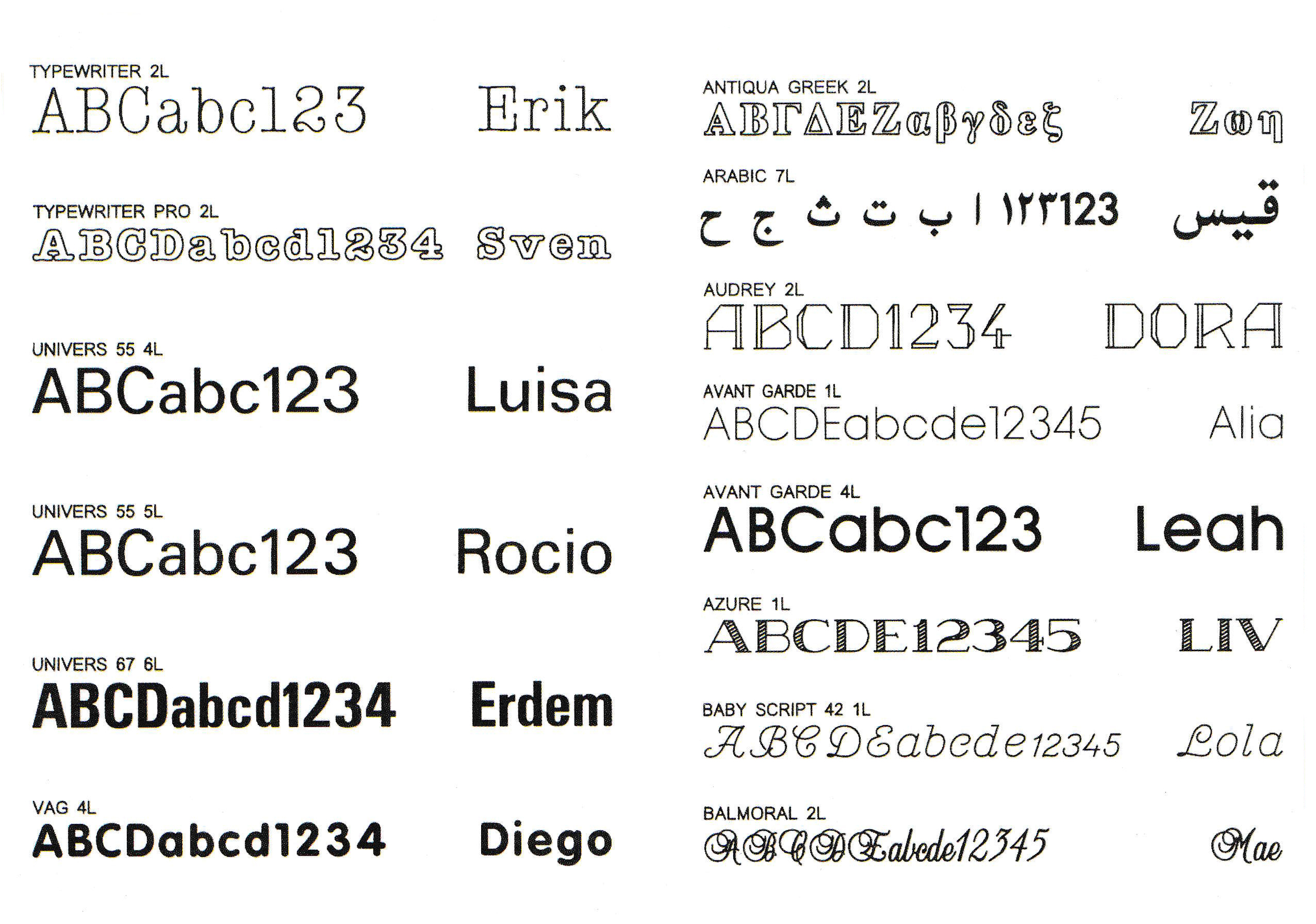 ENGRAVING FONTS 5