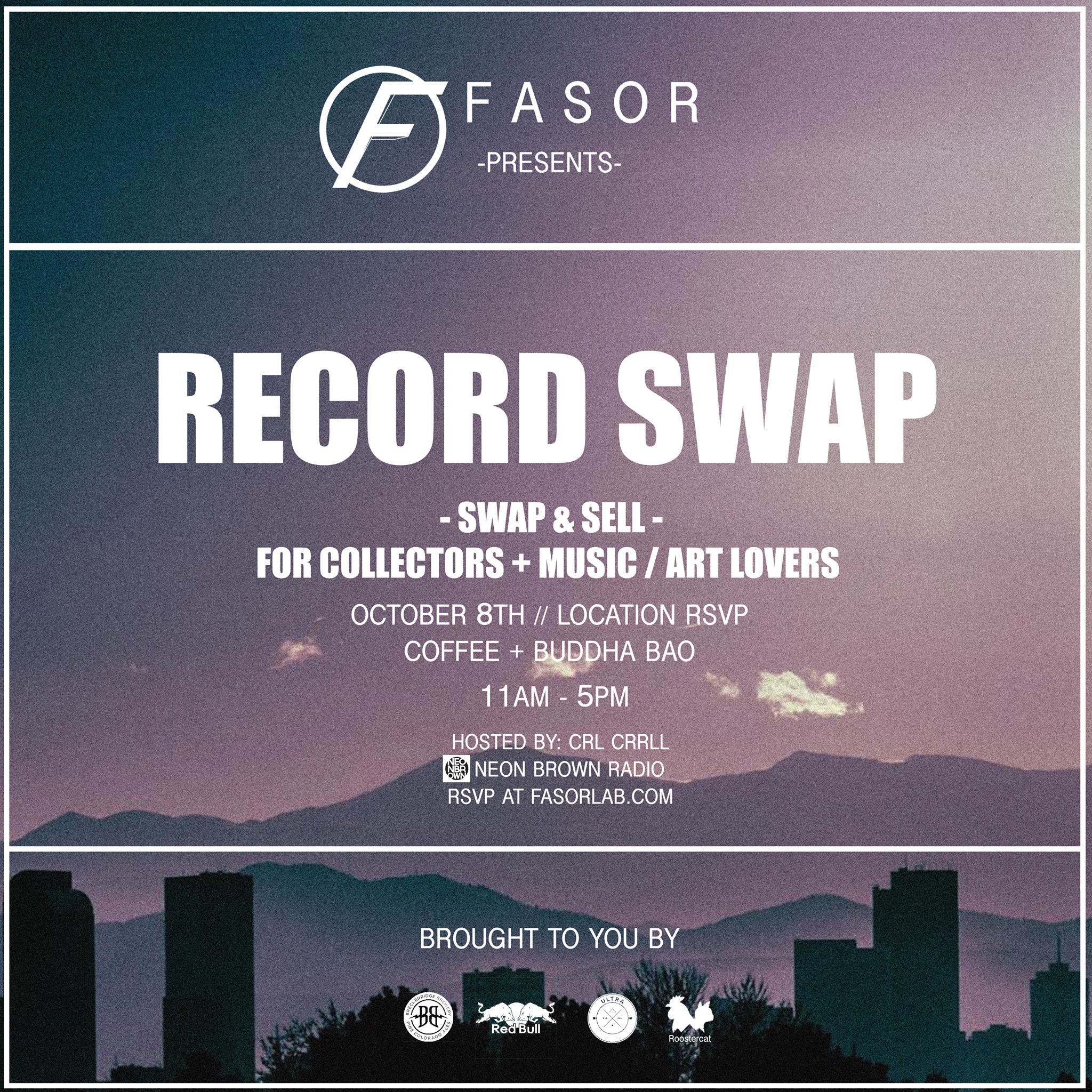 Record Swap | Fasor Lab | Neon Brown Radio