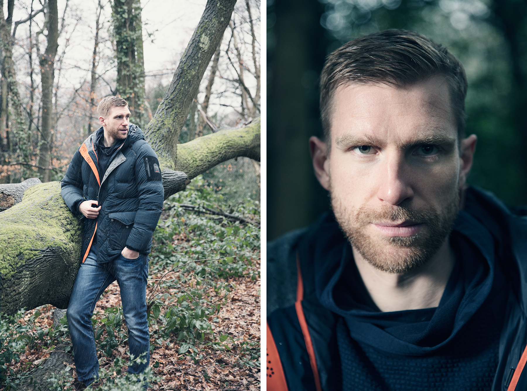 I photographed Arsenal captain Per Mertesacker for German magazine Der Spiegel. Apparently, being a professional footballer is not as easy as it looks. Mertesacker landed himself in a bit of controversy with his views on the pressures of the football world.   I thought he was easygoing, confident and accomodating during our short photo session in the rain on Hampstead Heath.
